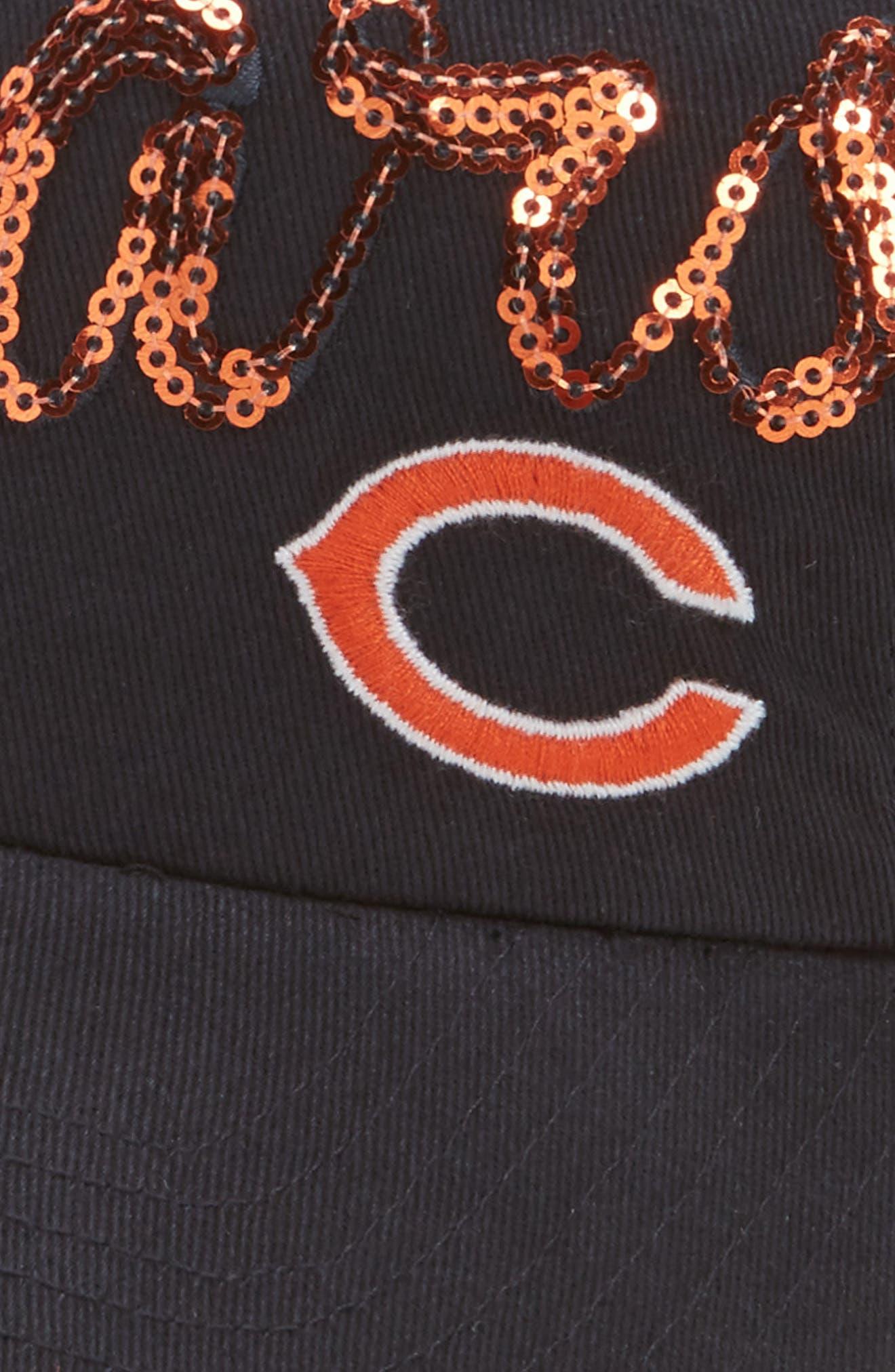 Chicago Bears Sparkle Cap,                             Alternate thumbnail 3, color,                             Navy