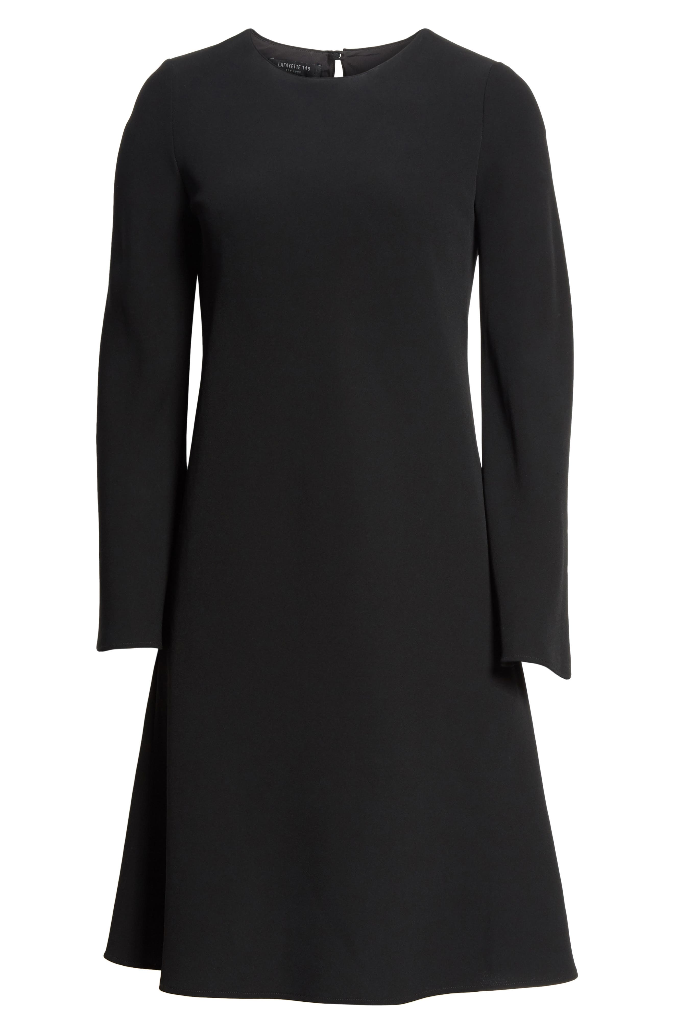 Kalitta Finesse Crepe Dress,                             Alternate thumbnail 7, color,                             Black