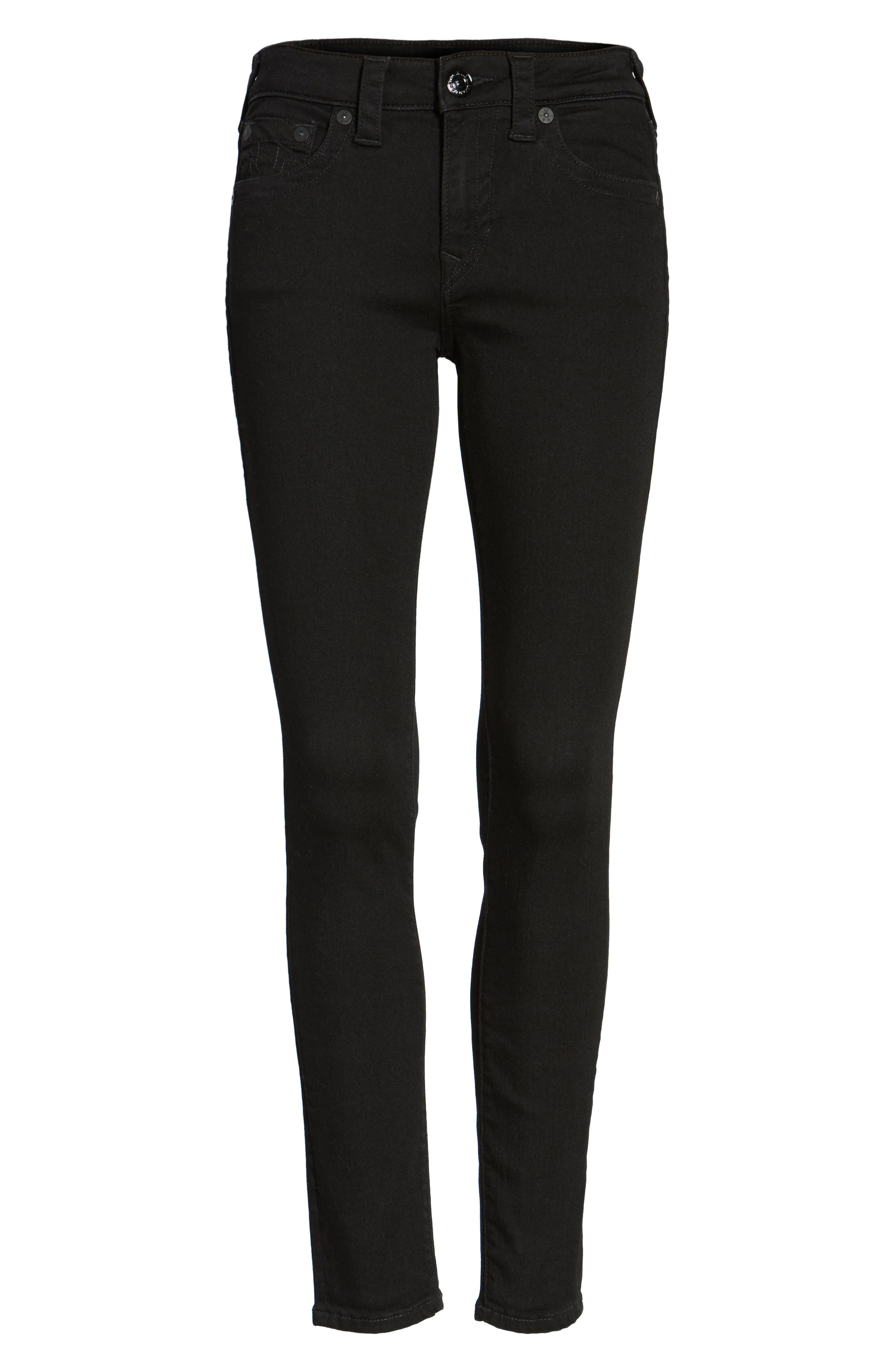 Jennie Curvy Skinny Jeans,                             Alternate thumbnail 5, color,                             Way Back Black