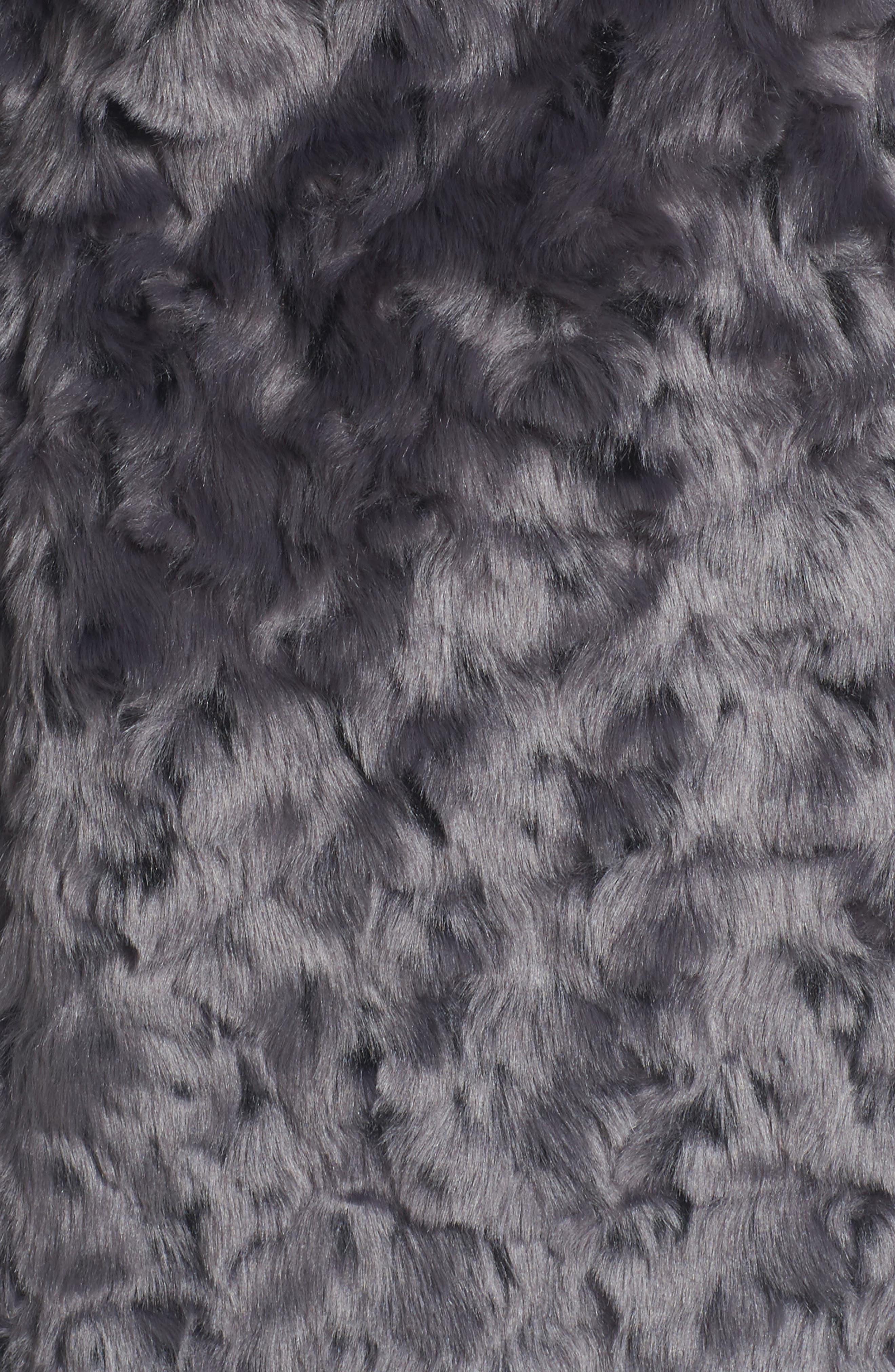 Roslyn Faux Fur Jacket,                             Alternate thumbnail 5, color,                             French Grey