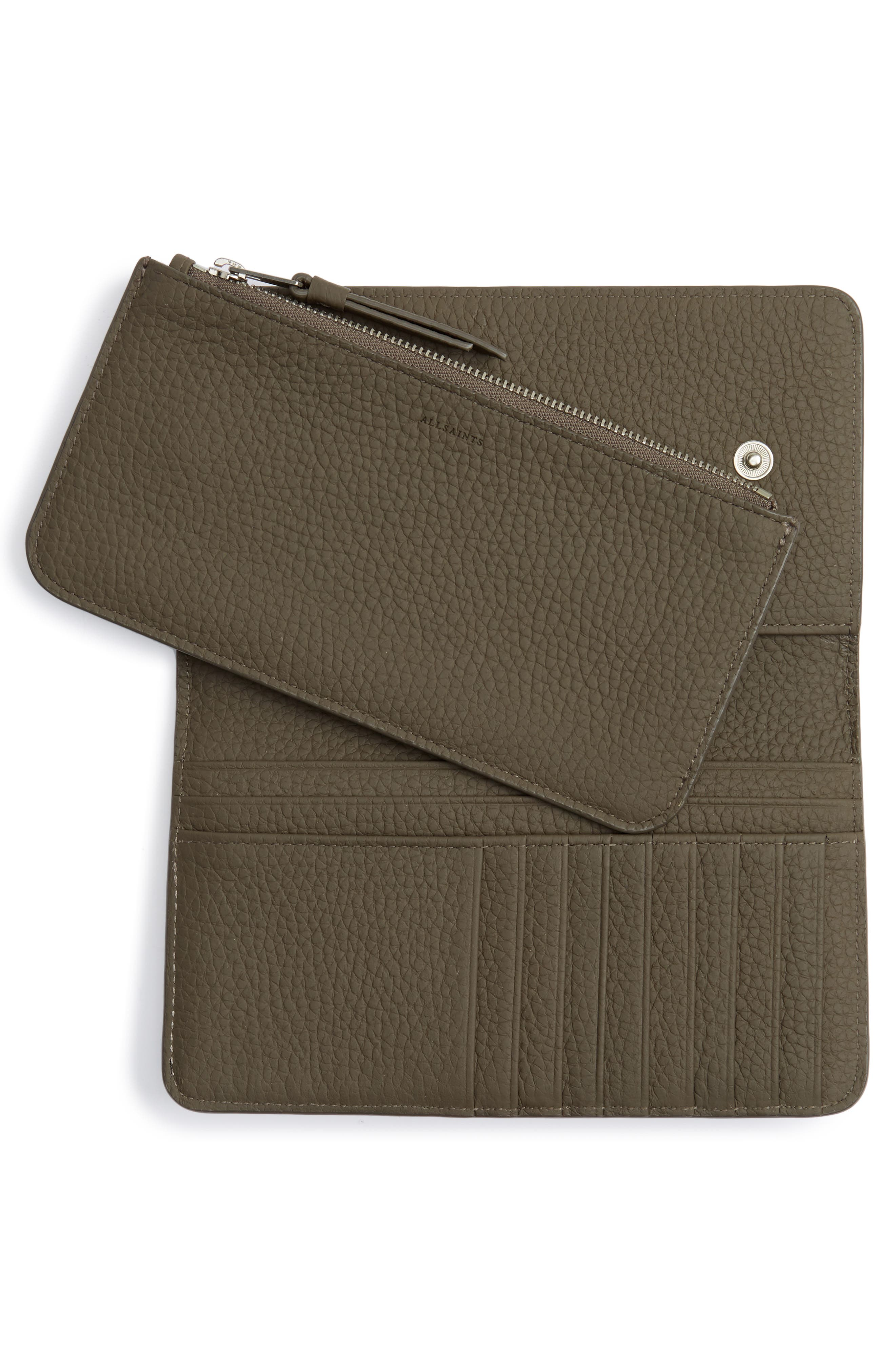 Ray Leather Wallet,                             Alternate thumbnail 2, color,                             Mink Grey