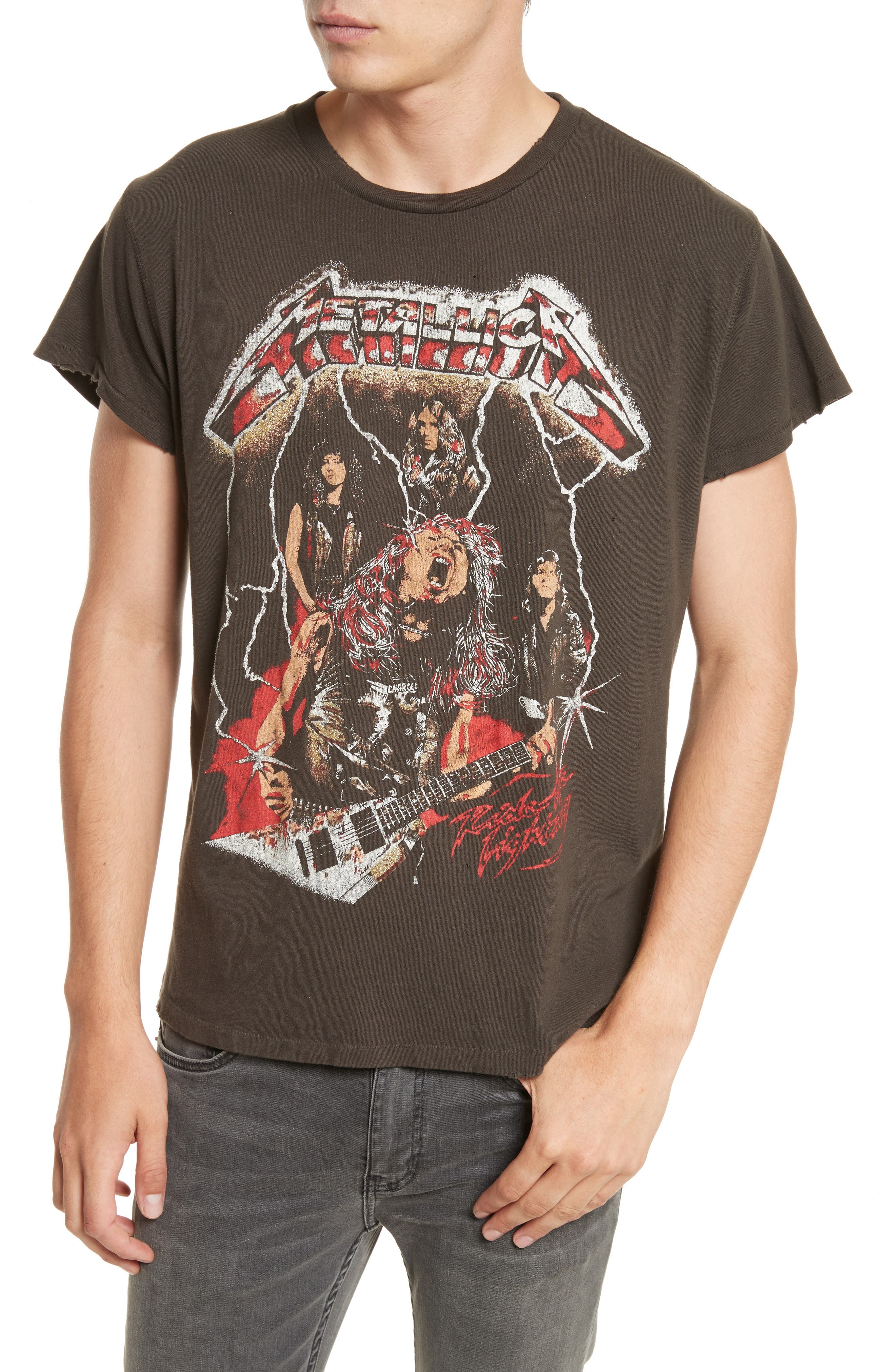 Alternate Image 4  - Madeworn Metallica Glitter Graphic T-Shirt