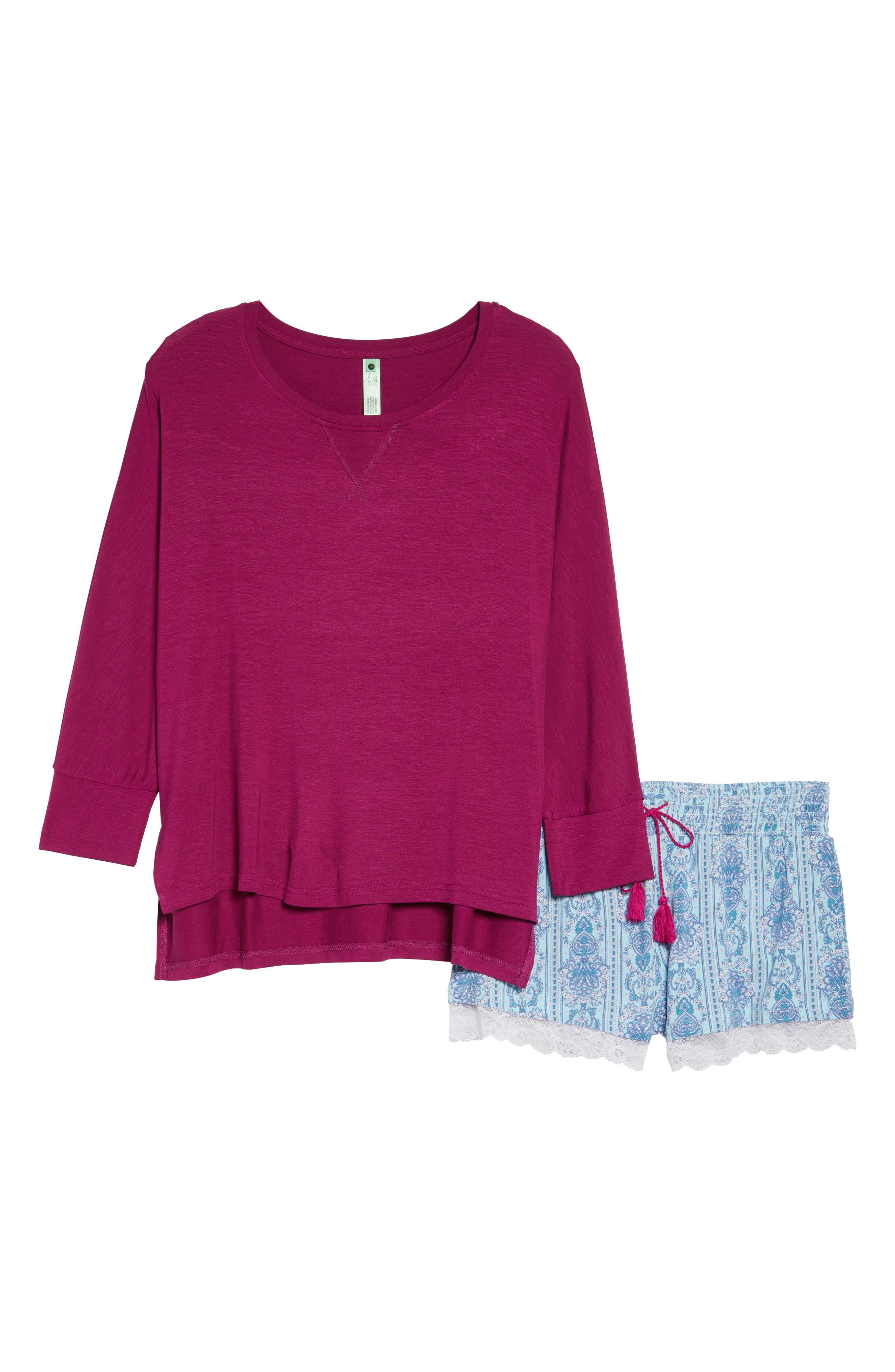 Honeydew Short Pajamas,                             Alternate thumbnail 4, color,                             Tuscany