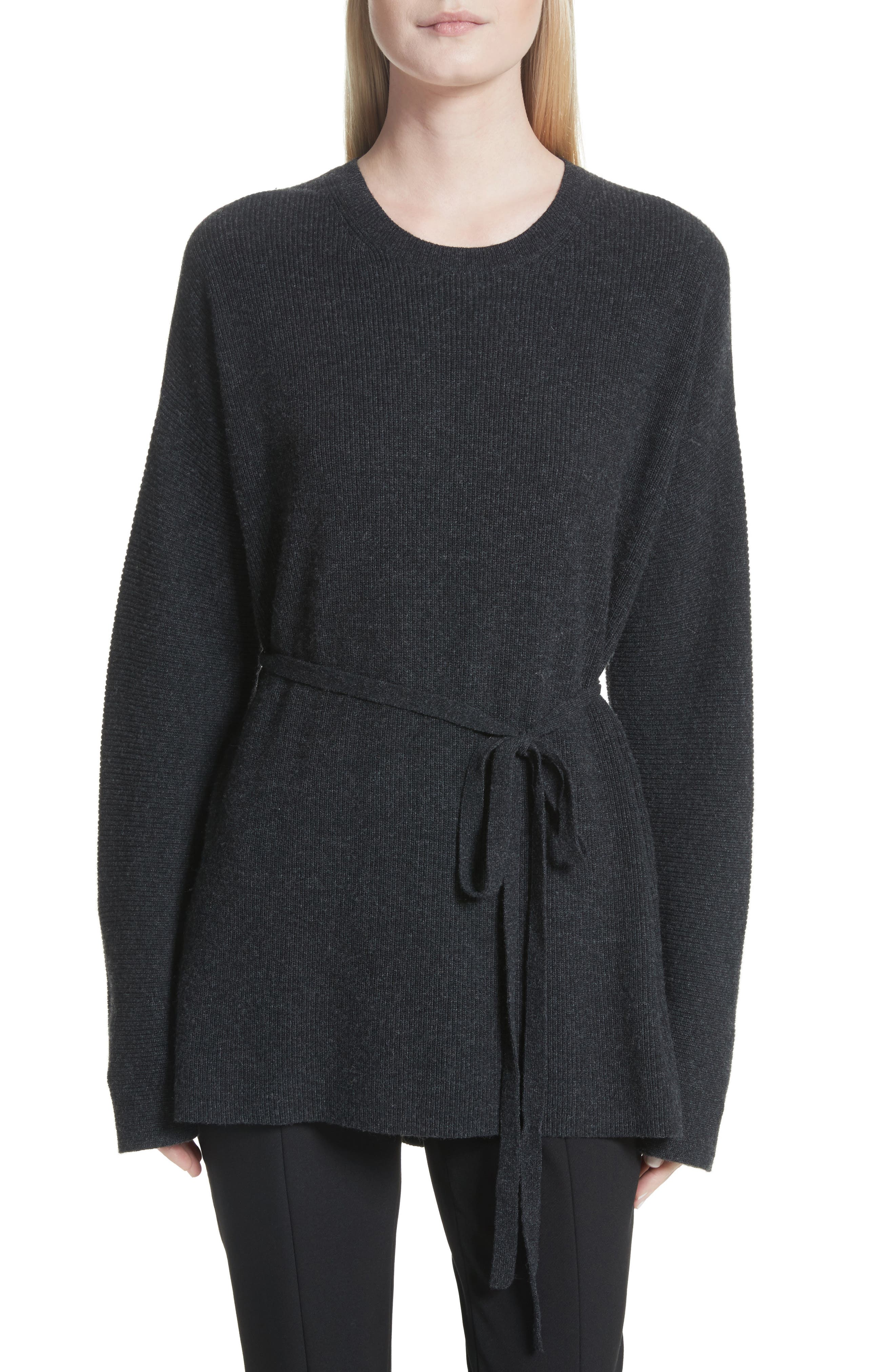 Gisella Slouchy Sweater,                         Main,                         color, Charcoal