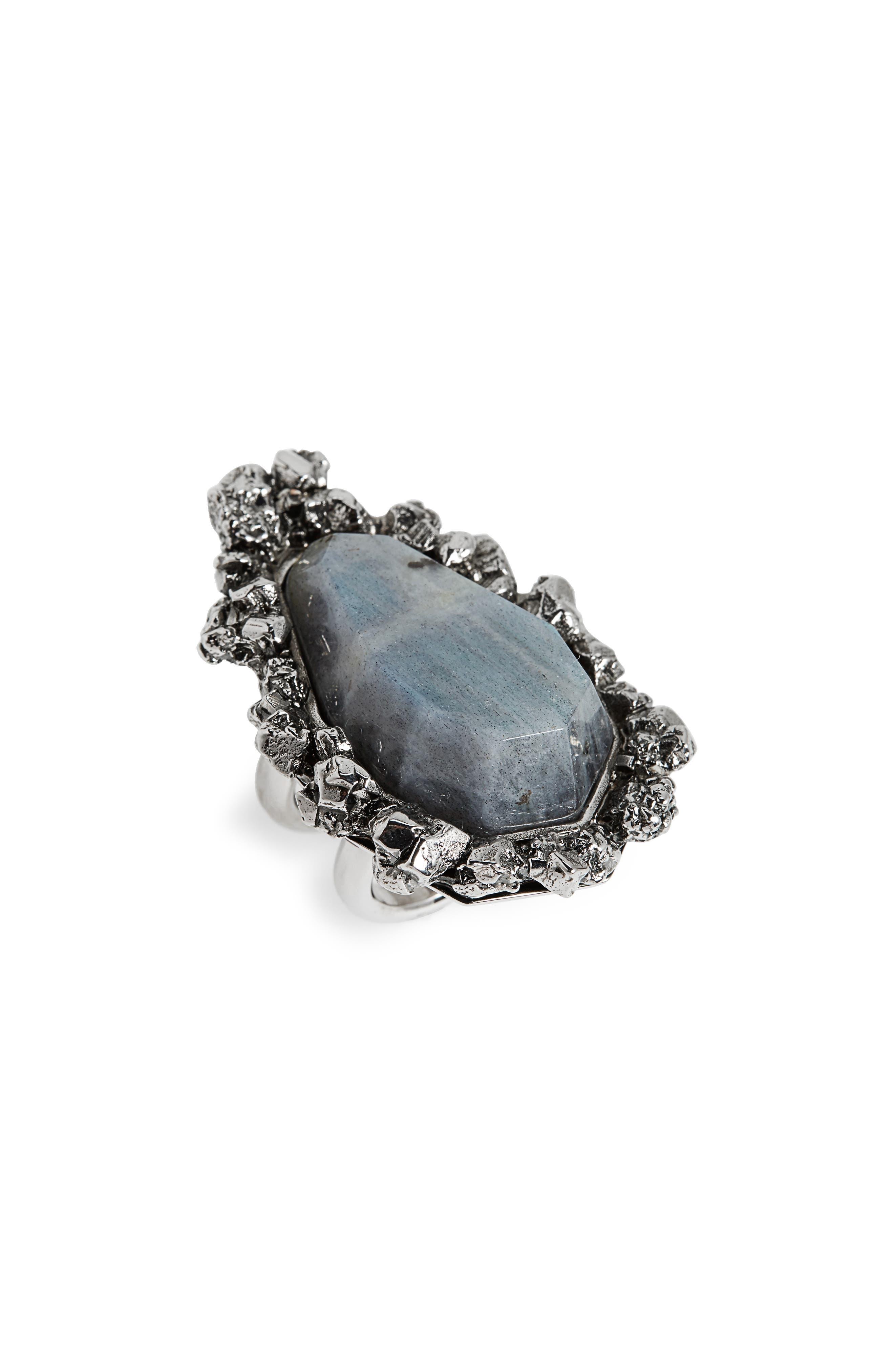 Alternate Image 1 Selected - Alexander McQueen Labradorite Ring