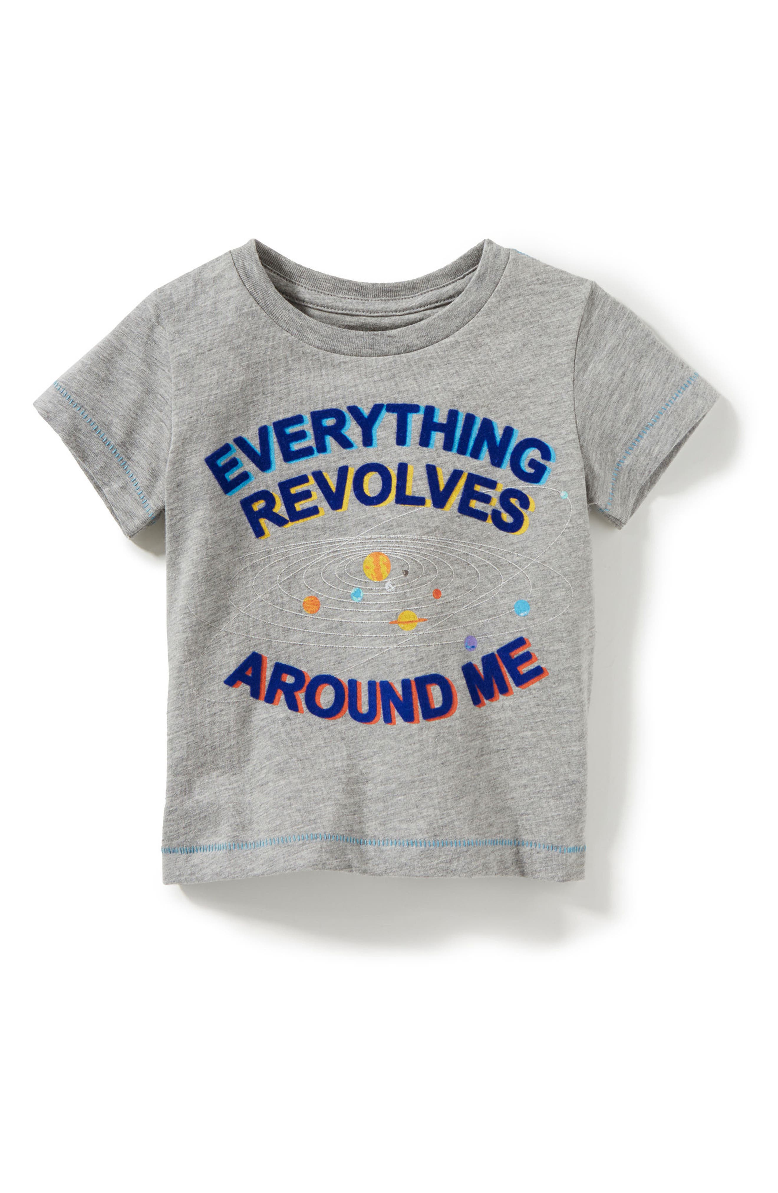Everything Revolves Around Me T-Shirt,                         Main,                         color, Light Heather Grey