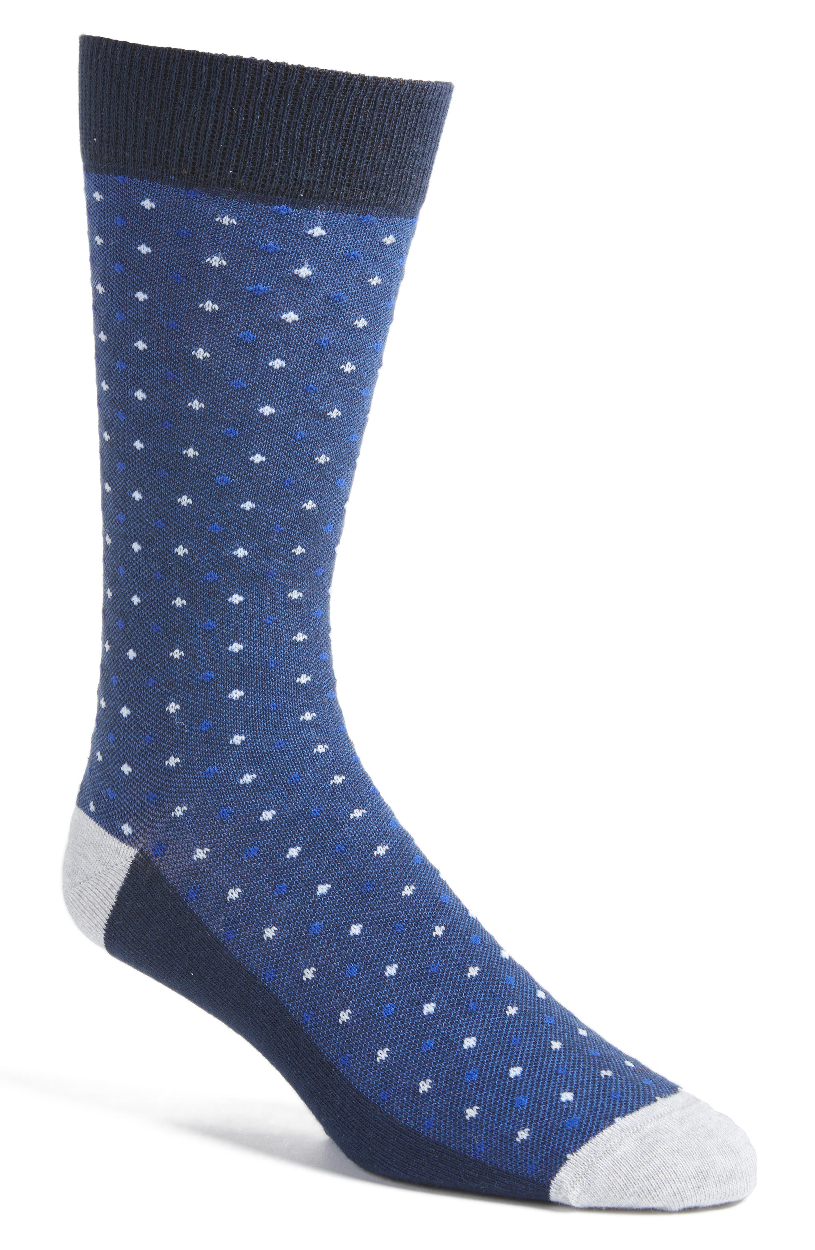Alternate Image 1 Selected - Ted Baker London Bird's Eye Crew Socks