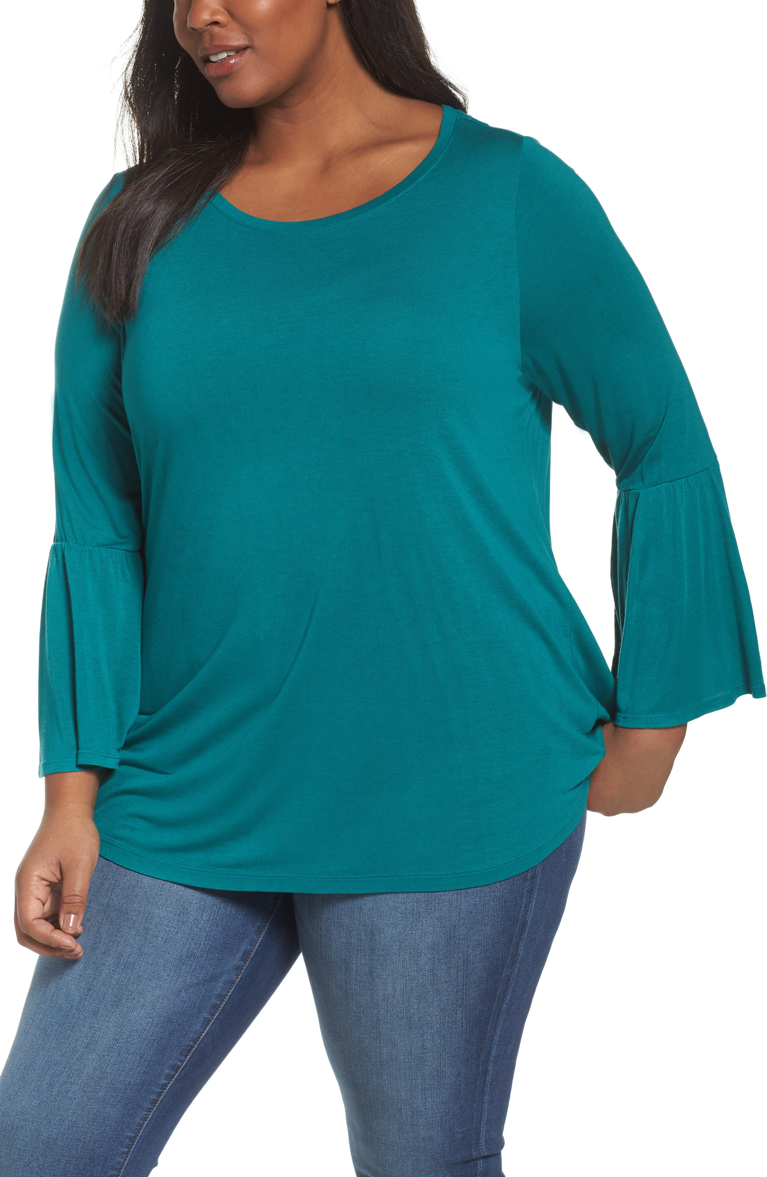 Sejour Bell Sleeve Tee (Plus Size)