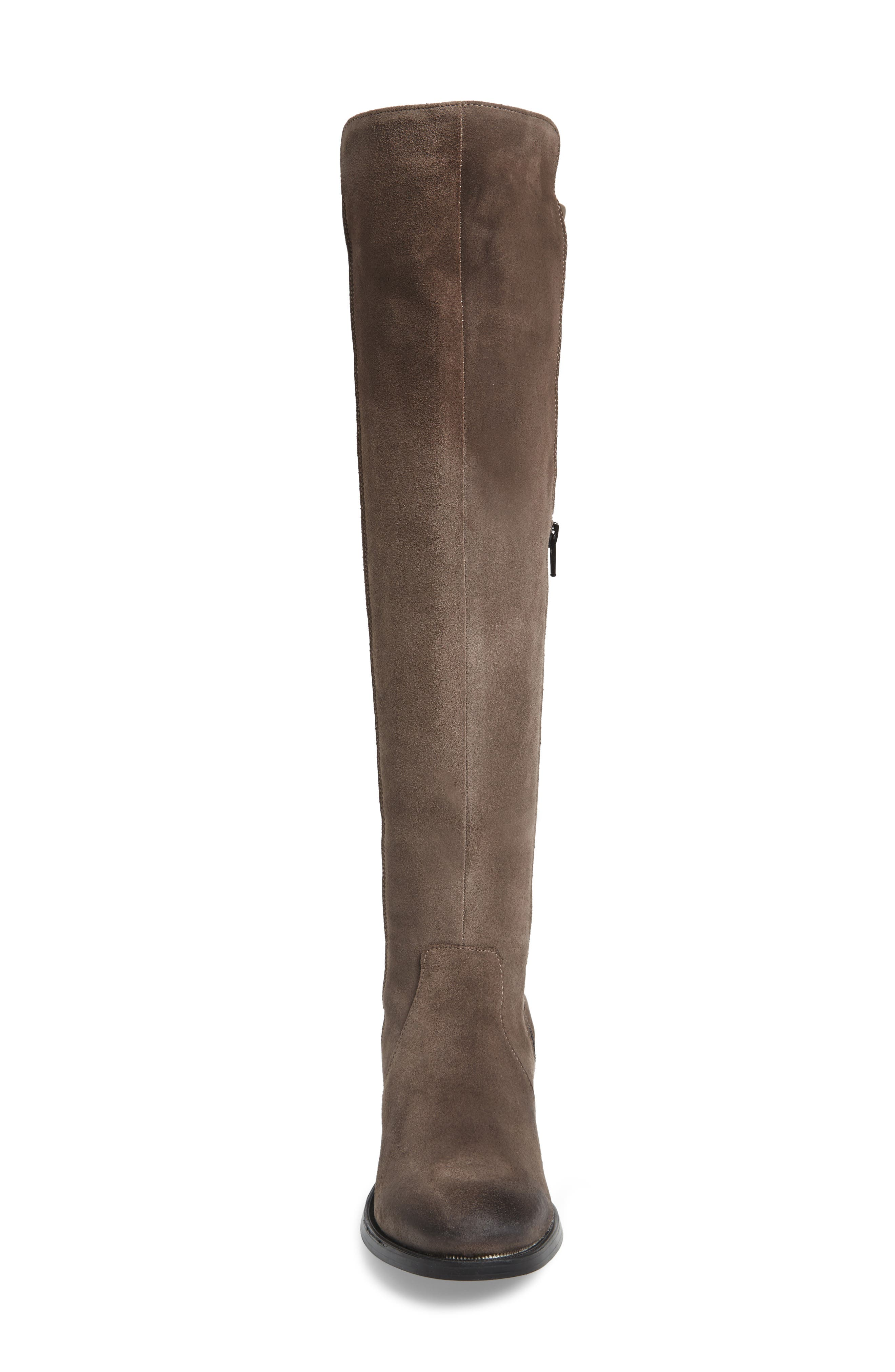 Bunt Waterproof Over the Knee Boot,                             Alternate thumbnail 4, color,                             Elephant Suede Leather