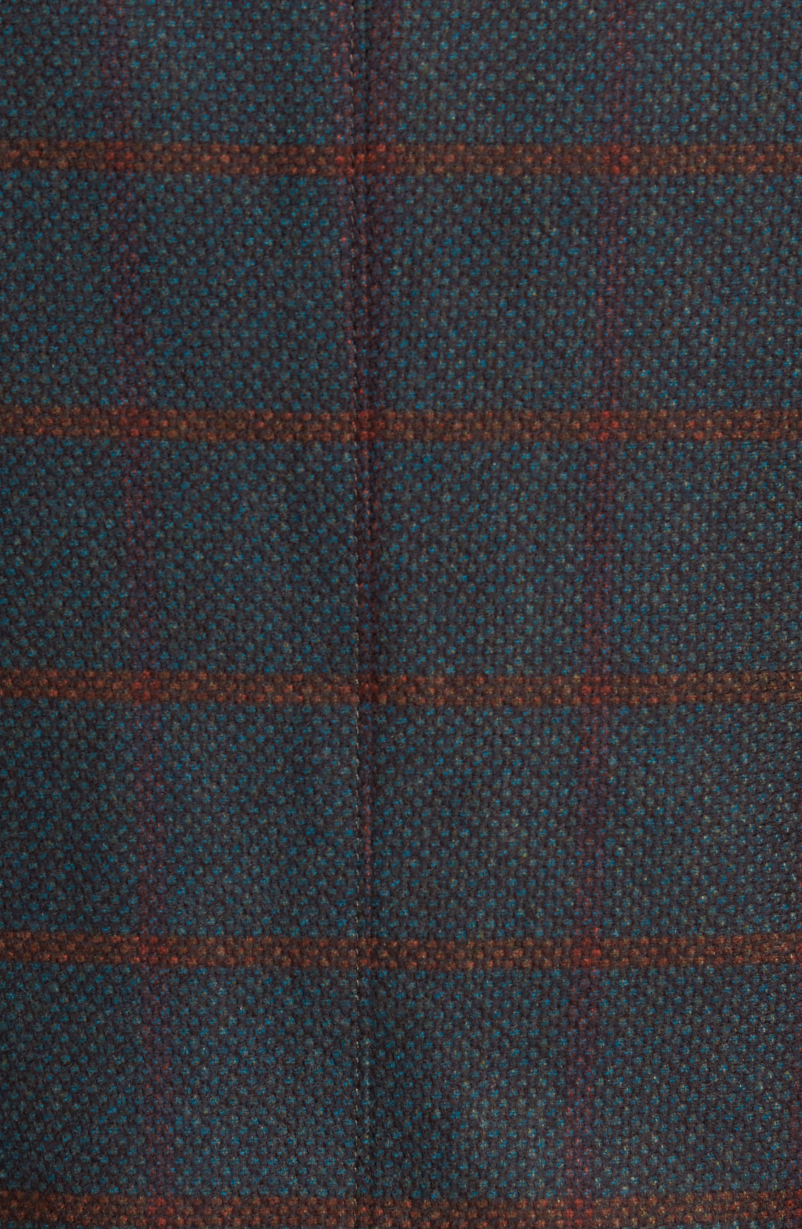 Classic Fit Windowpane Wool Sport Coat,                             Alternate thumbnail 5, color,                             Green