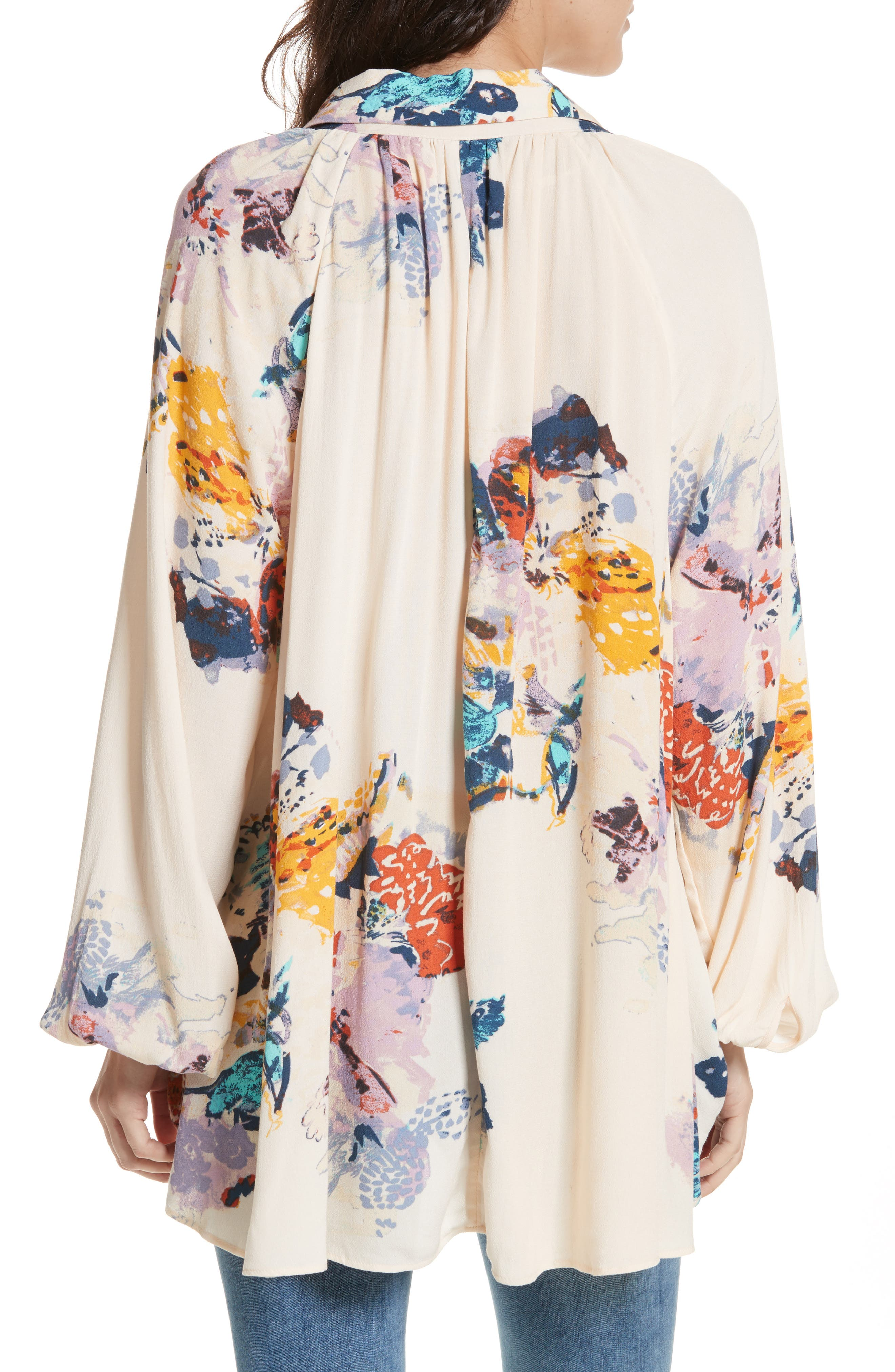 Meadow Lark Blouse,                             Alternate thumbnail 2, color,                             Cream