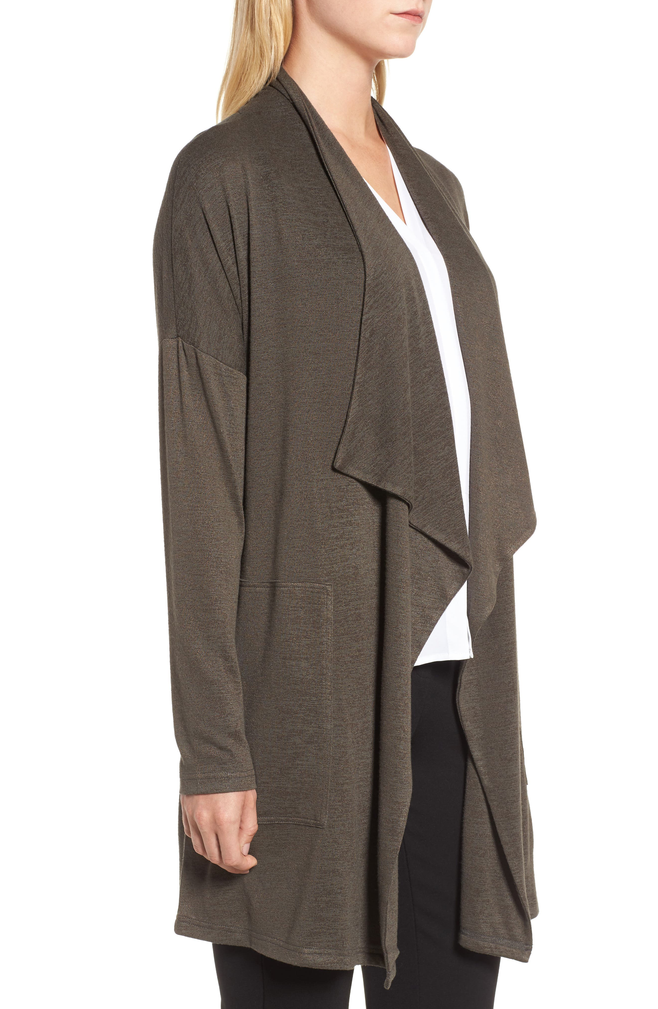 Every Occasion Drape Front Jacket,                             Alternate thumbnail 3, color,                             Terrene