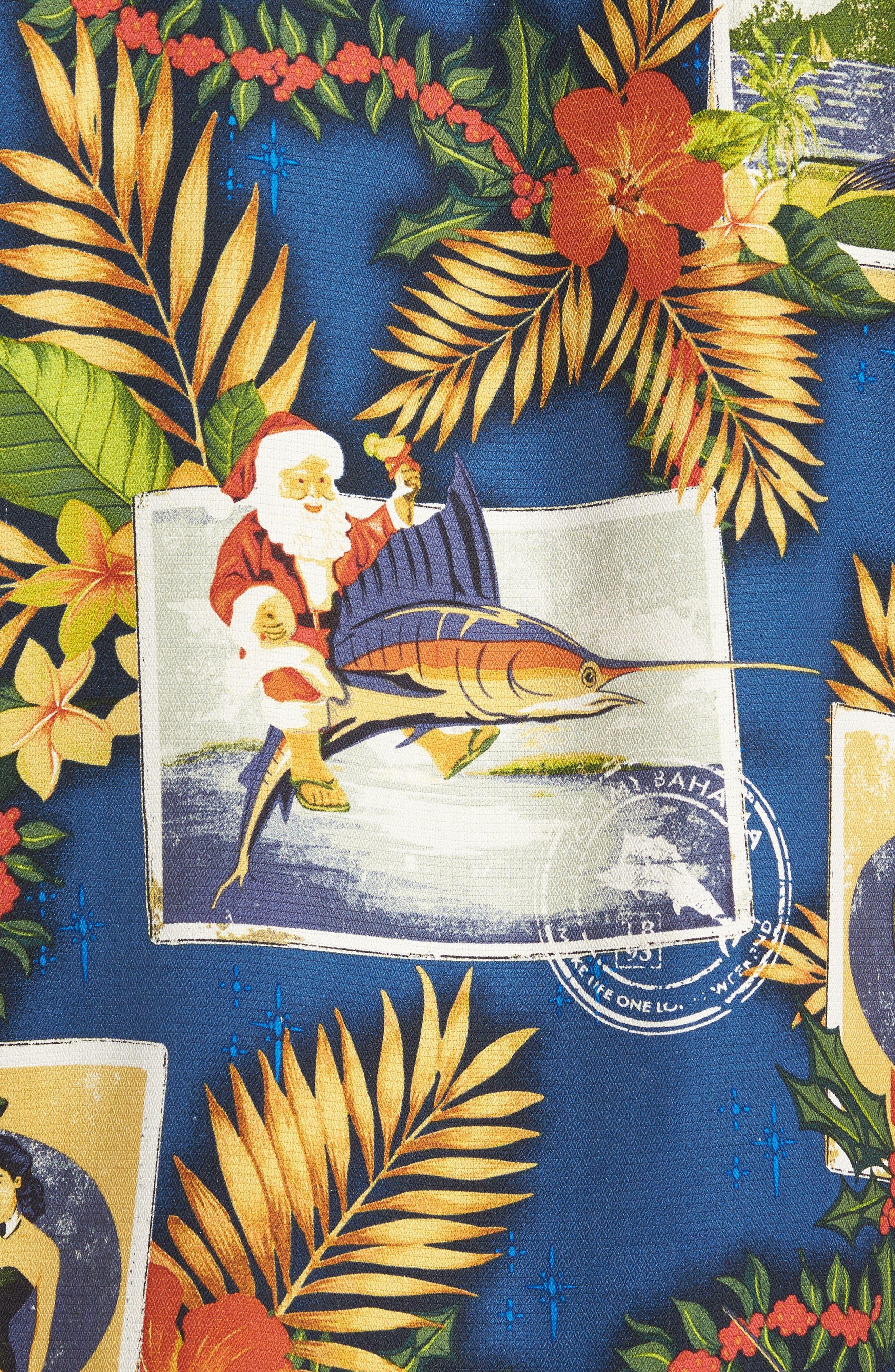Alternate Image 5  - Tommy Bahama Tommy Holidays Silk Woven Shirt