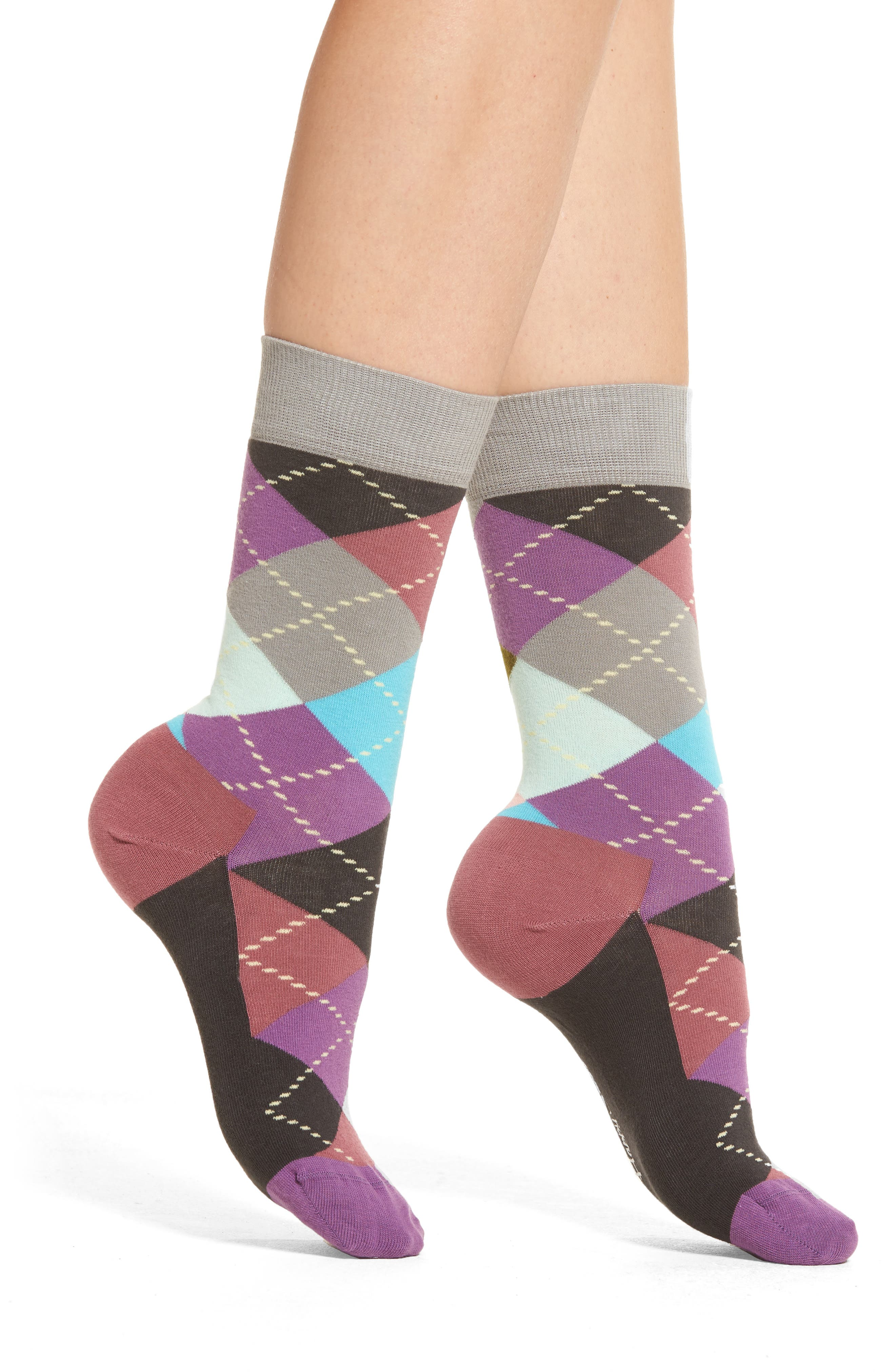 'Checker' Low Cut Athletic Socks,                         Main,                         color, Multi Brights
