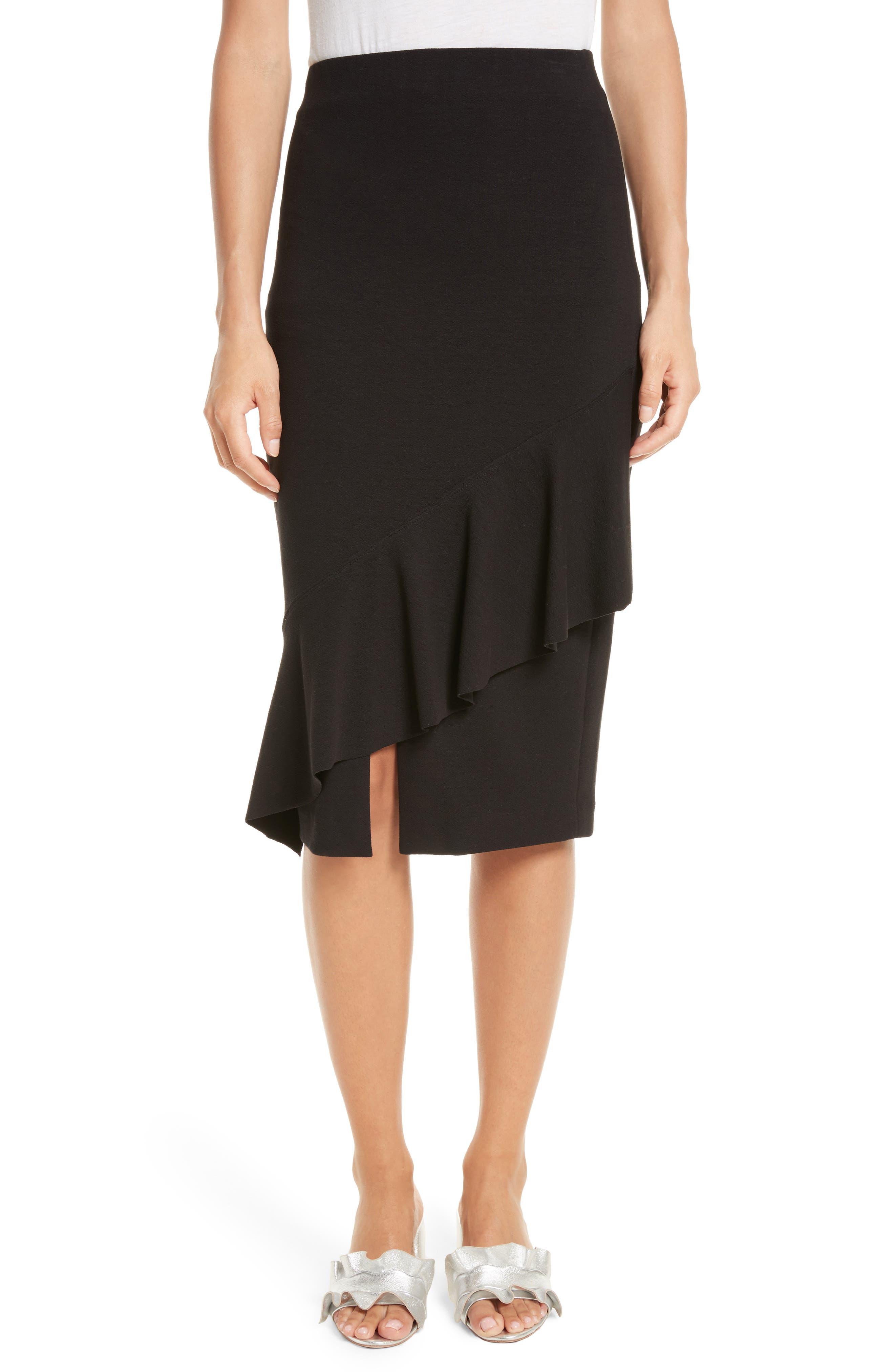 Three-Vent Skirt,                         Main,                         color, Black