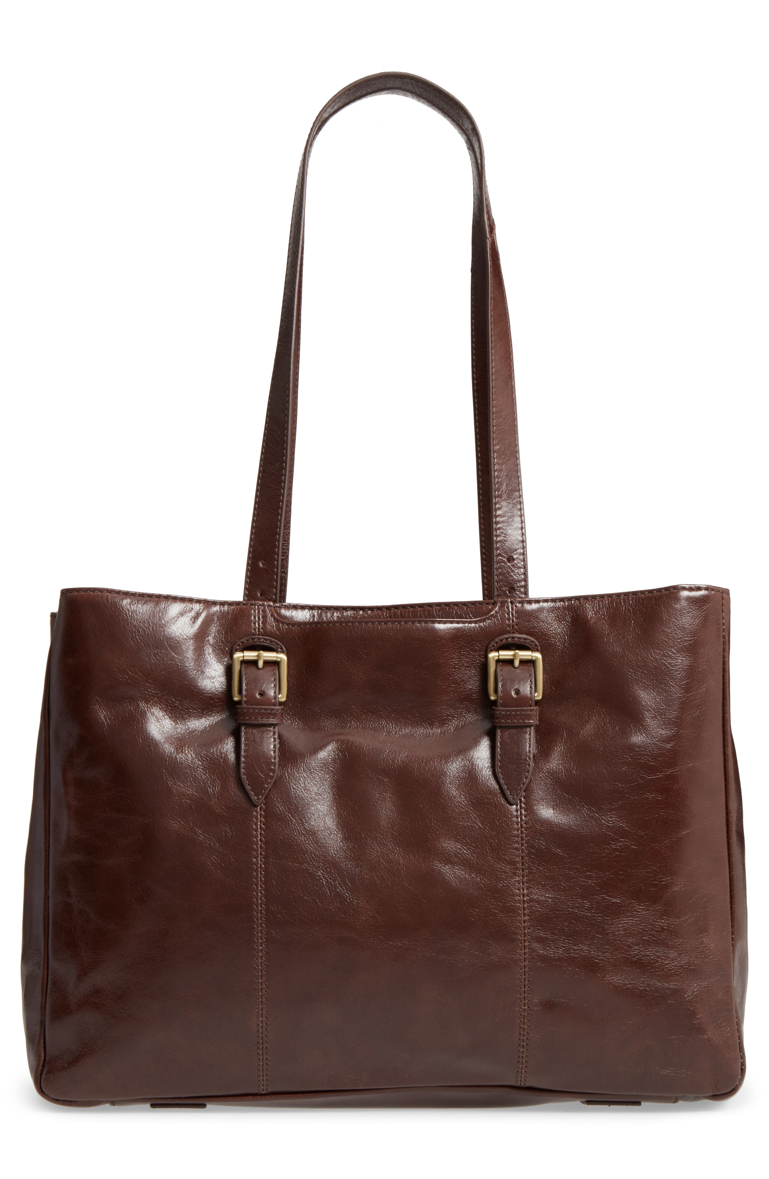 Cabot Calfskin Leather Tote,                             Alternate thumbnail 2, color,                             Espresso