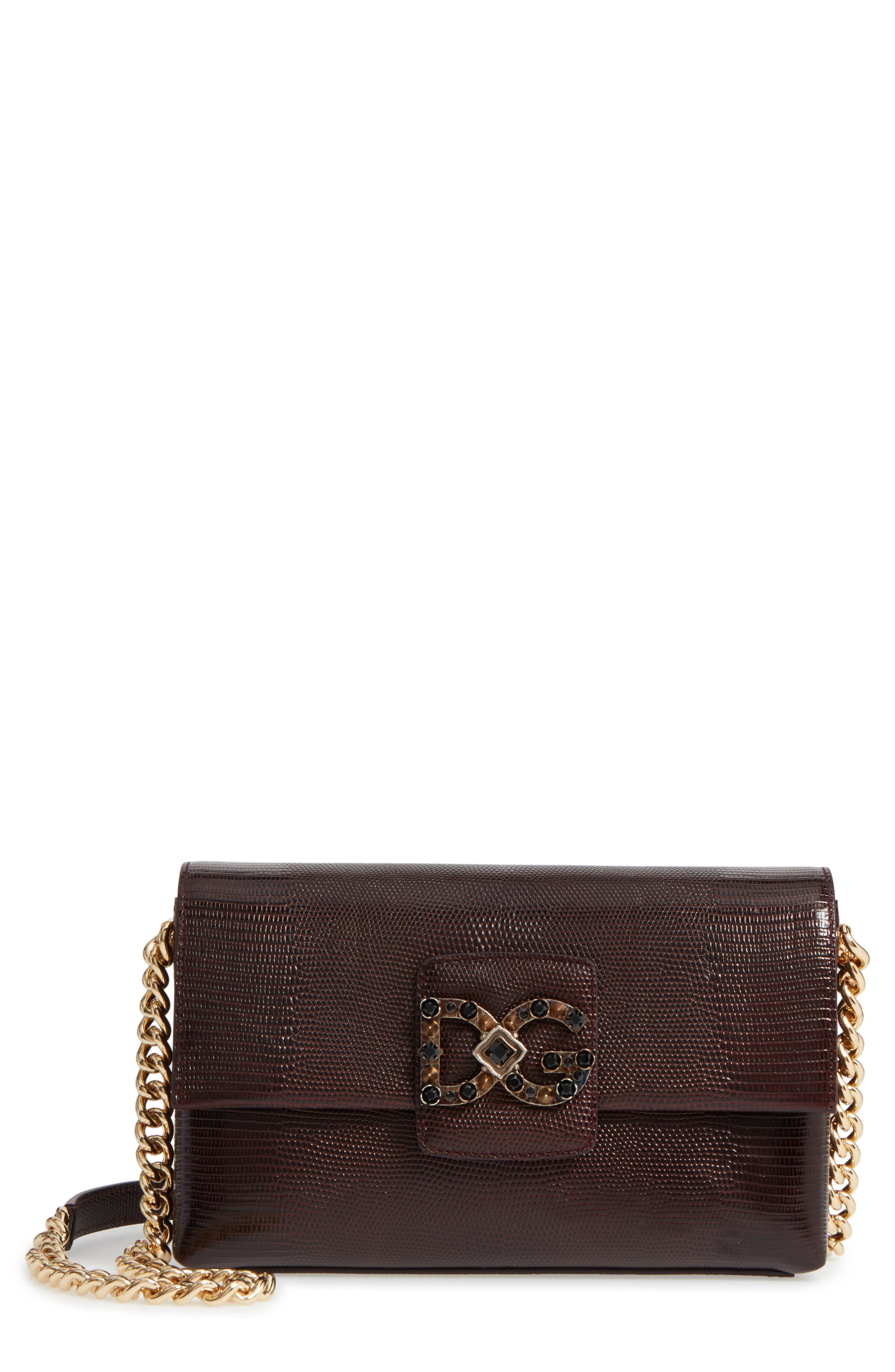 Dolce&Gabbana Medium Millennials Embossed Leather Shoulder Bag