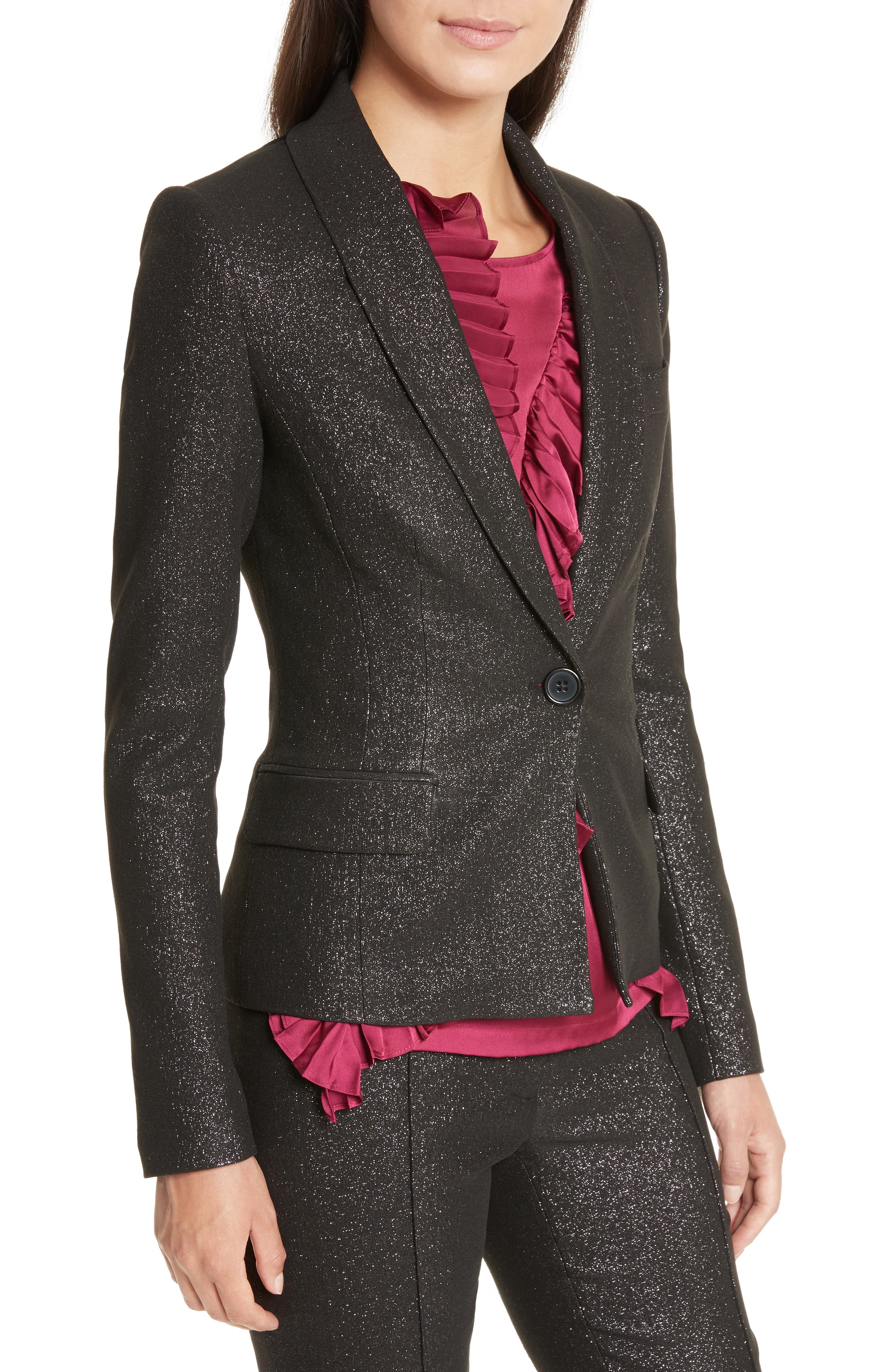 Alternate Image 4  - Tracy Reese Metallic Shawl Blazer