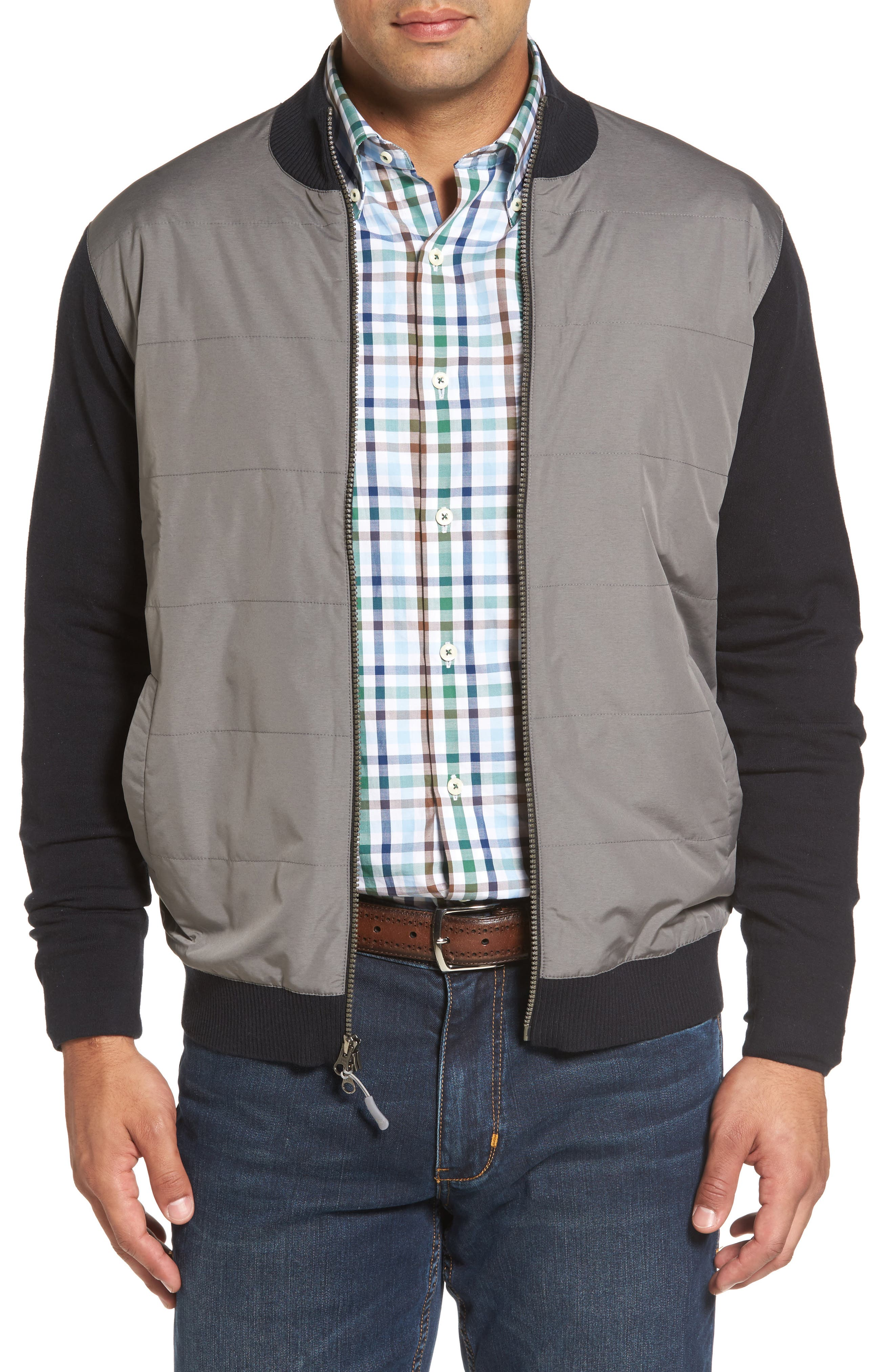 Alternate Image 1 Selected - Peter Millar Patterson Zip Hybrid Jacket