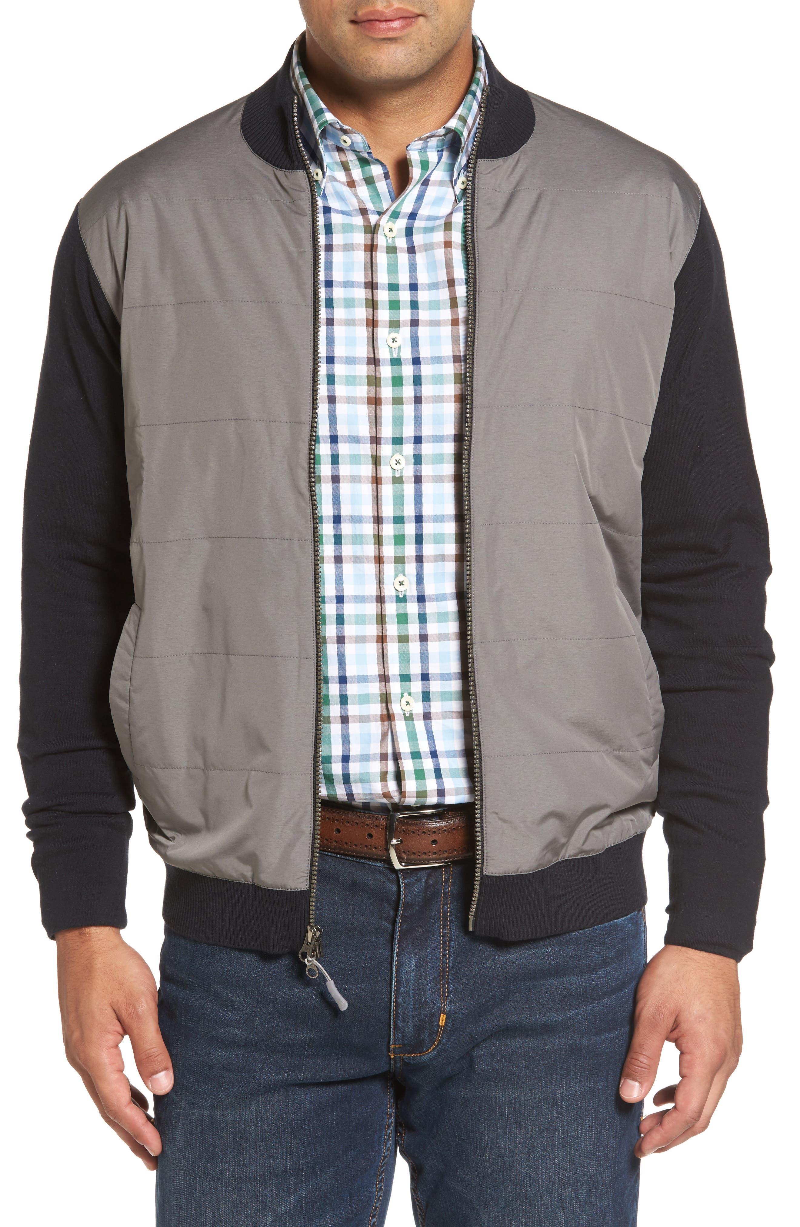 Patterson Zip Hybrid Jacket,                         Main,                         color, Black