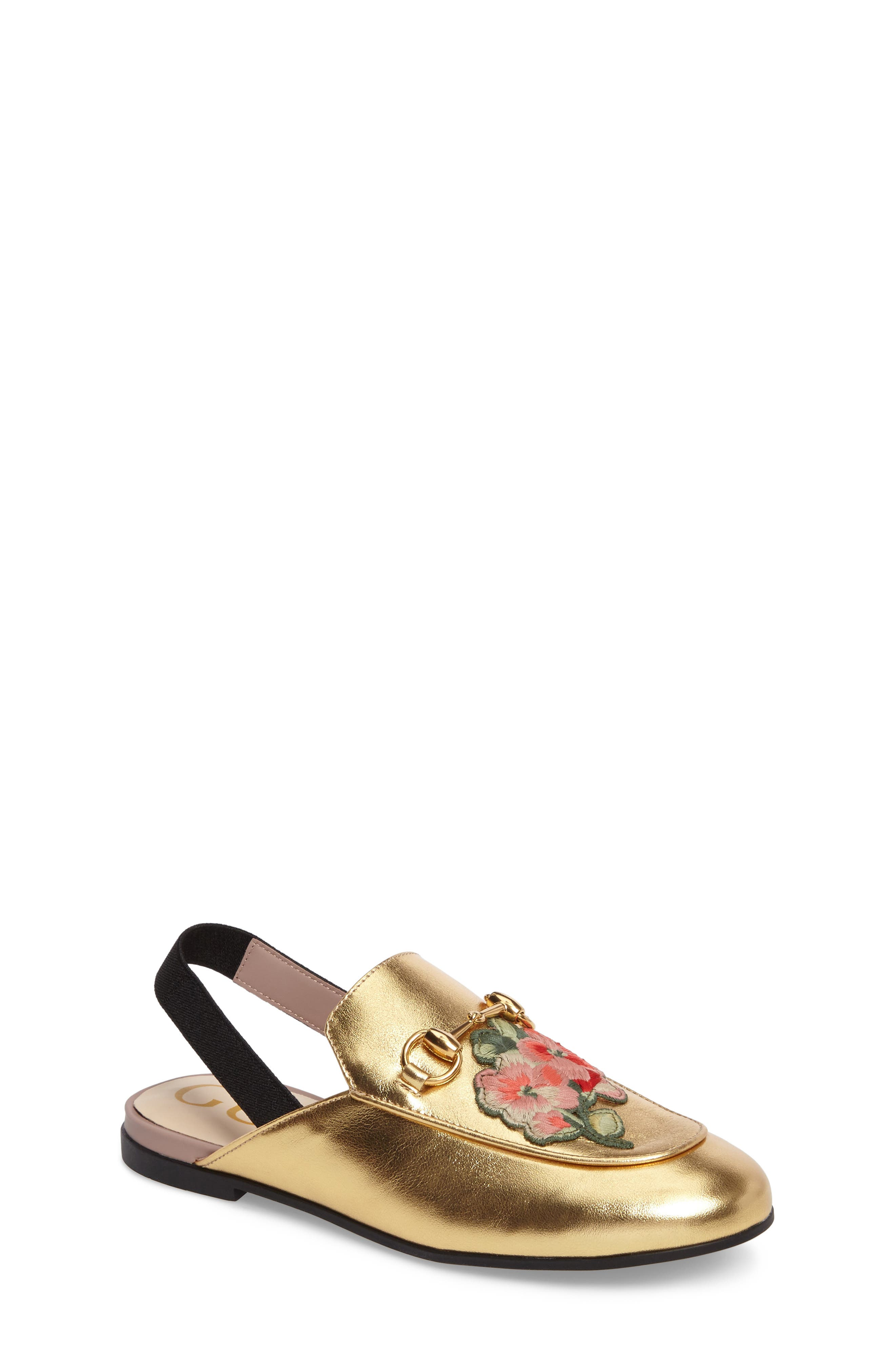 Alternate Image 1 Selected - Gucci Princetown Loafer (Toddler & Little Kid)