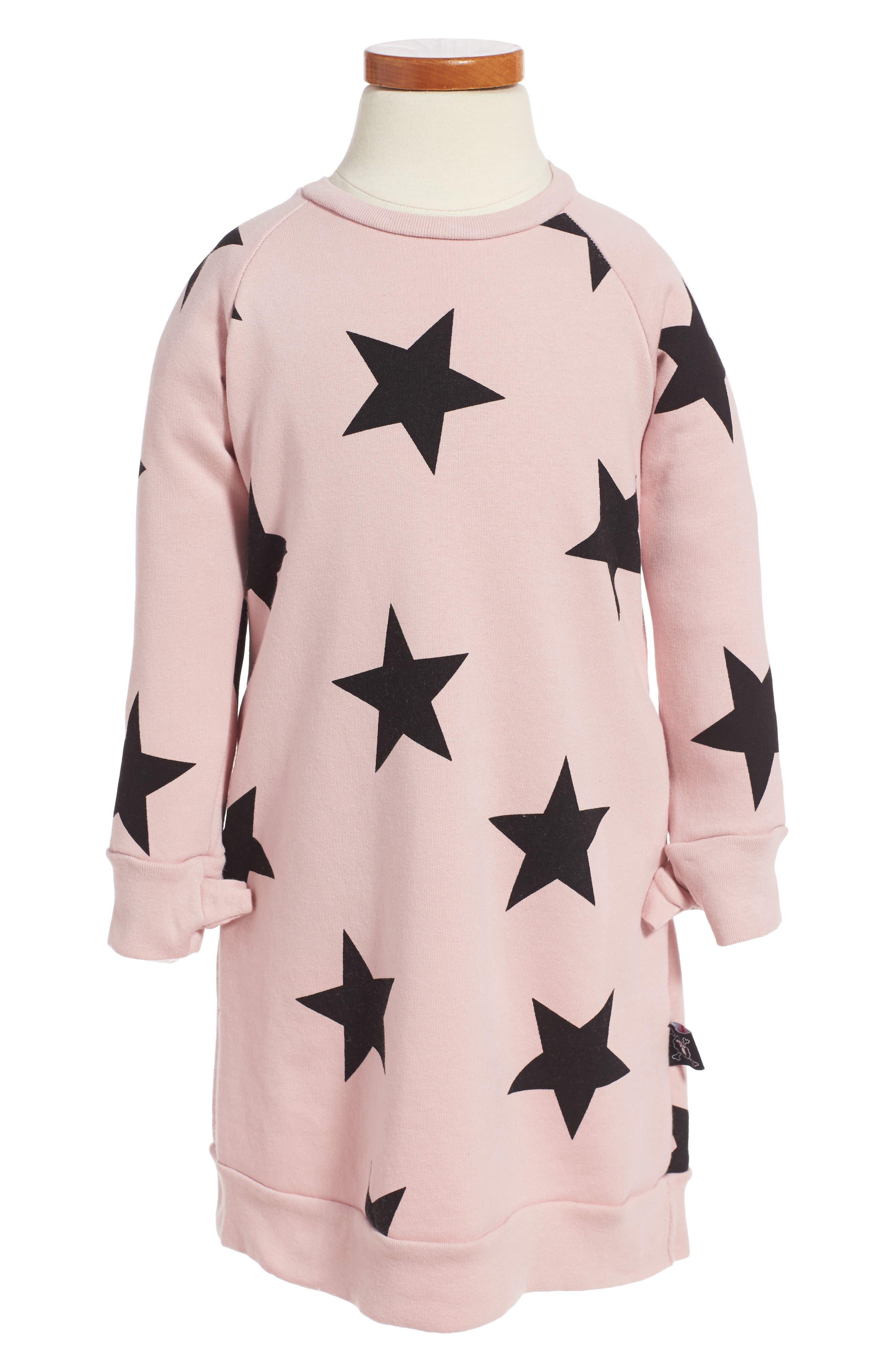 NUNUNU Star Print Sweater Dress