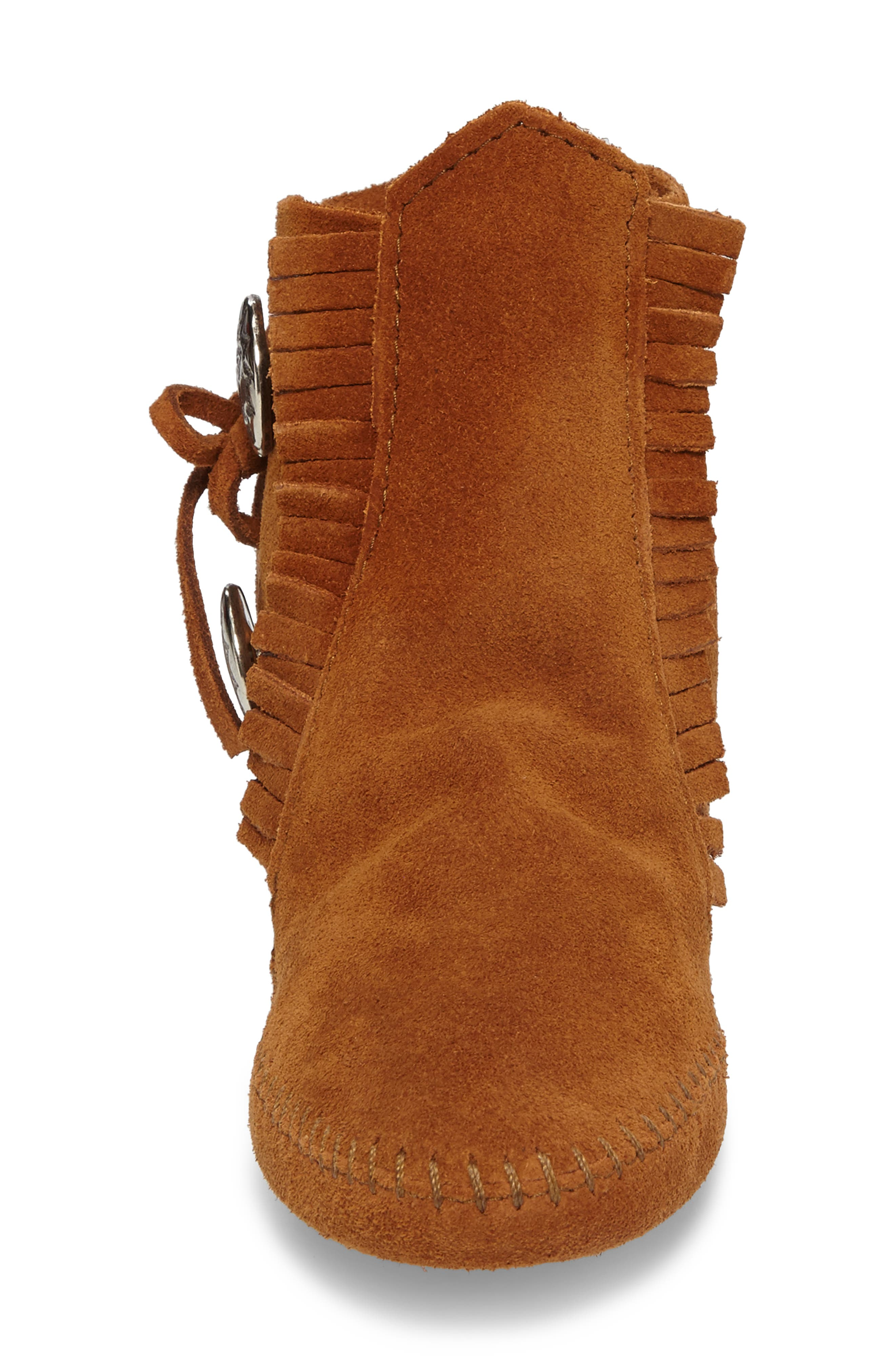 Two-Button Softsole Bootie,                             Alternate thumbnail 4, color,                             Brown