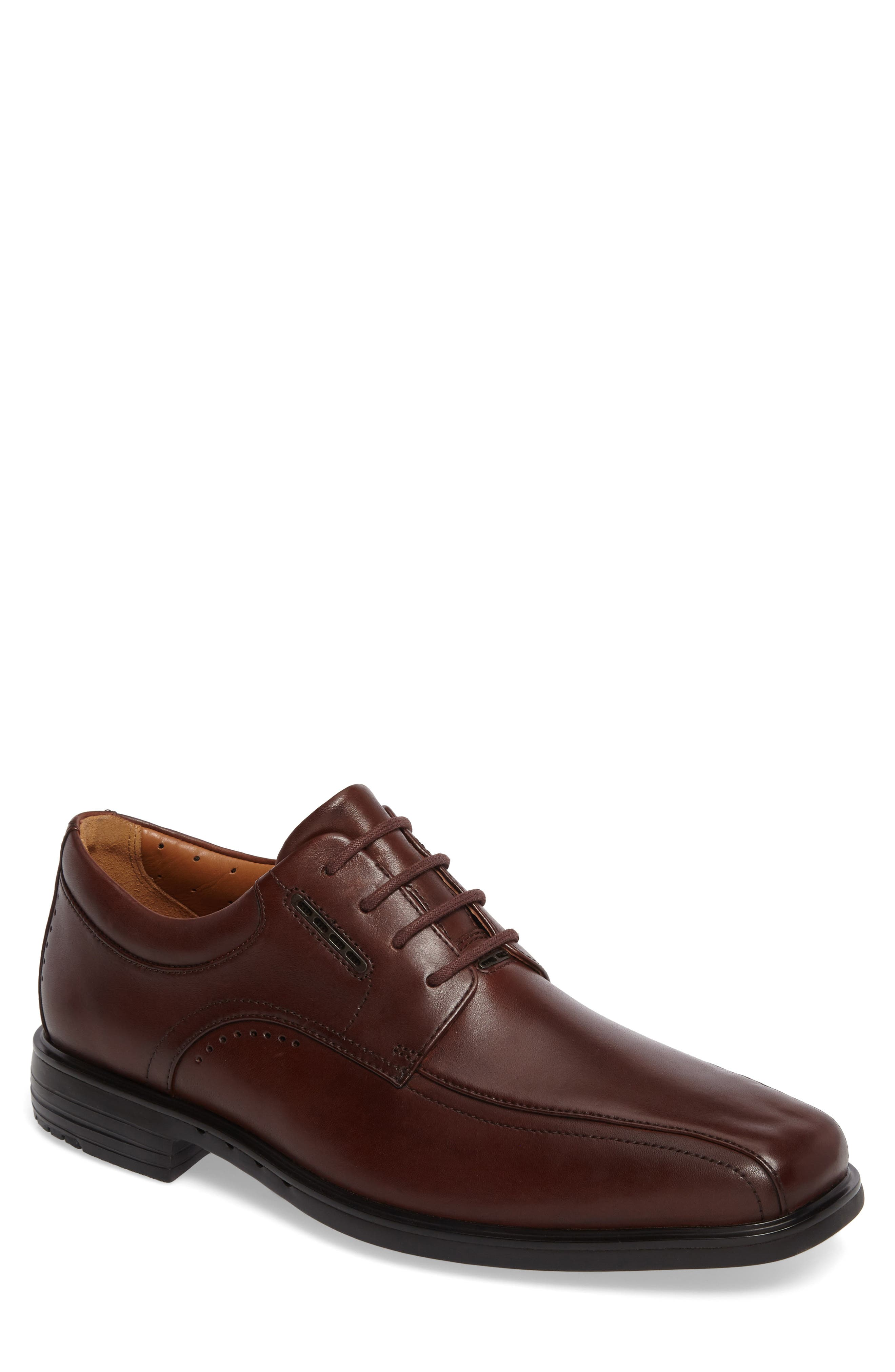 Un.Kenneth Bike Toe Oxford,                             Main thumbnail 1, color,                             Brown Leather