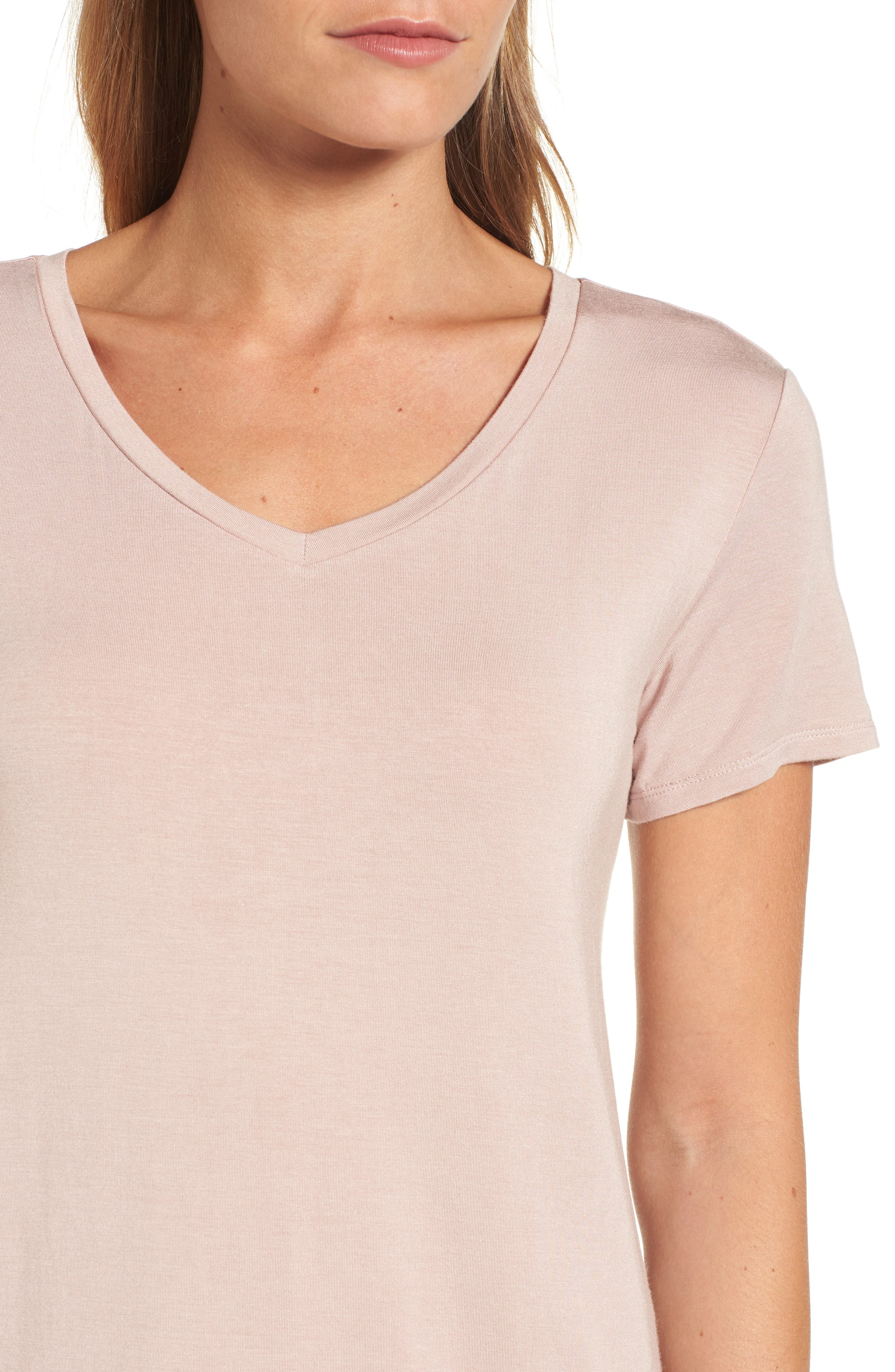 Alternate Image 4  - Halogen® Modal Jersey V-Neck Tee (Regular & Petite)