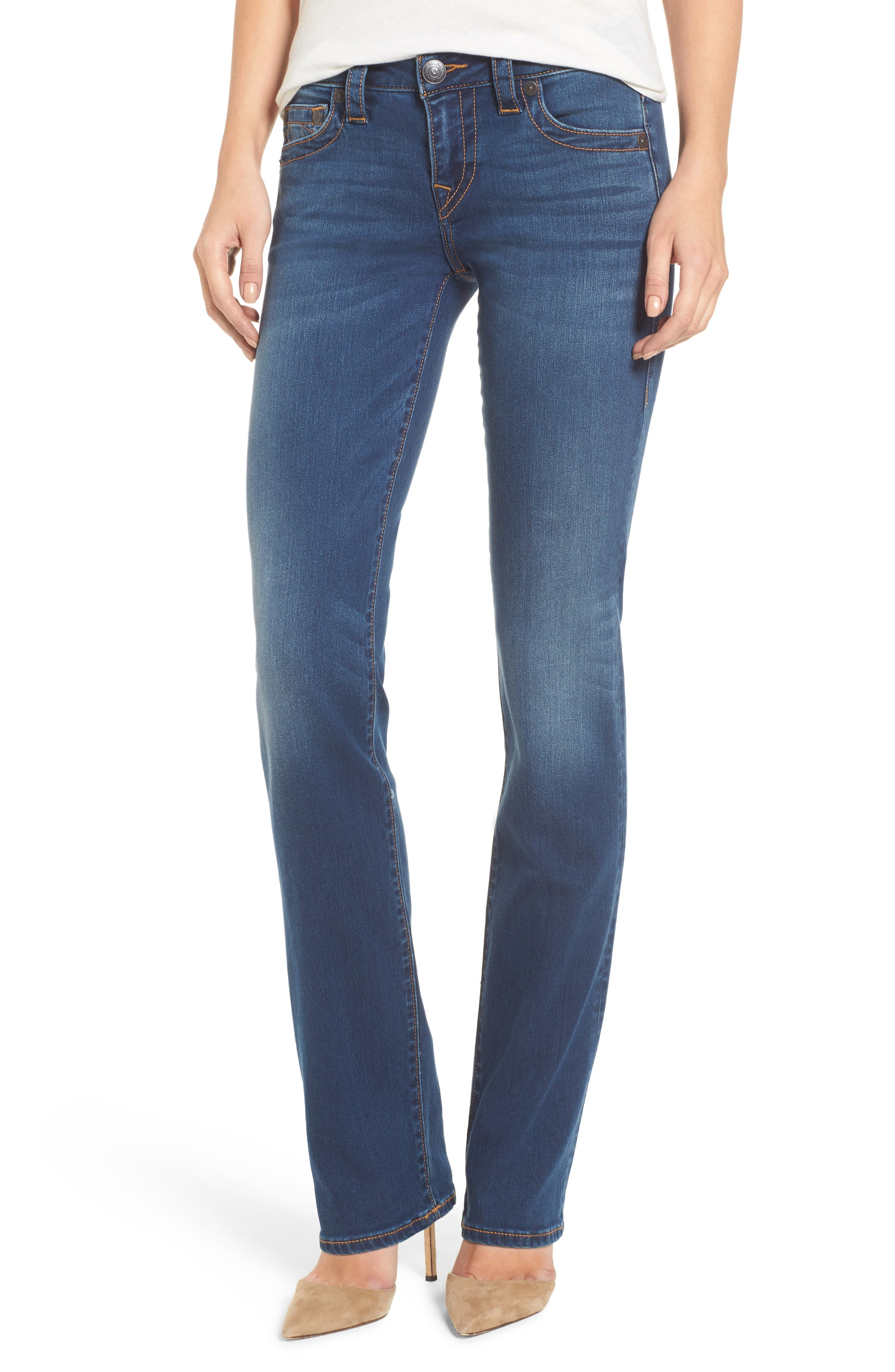 True Religion Brand Jeans Billie Straight Leg Jeans (Tried N True Blue)