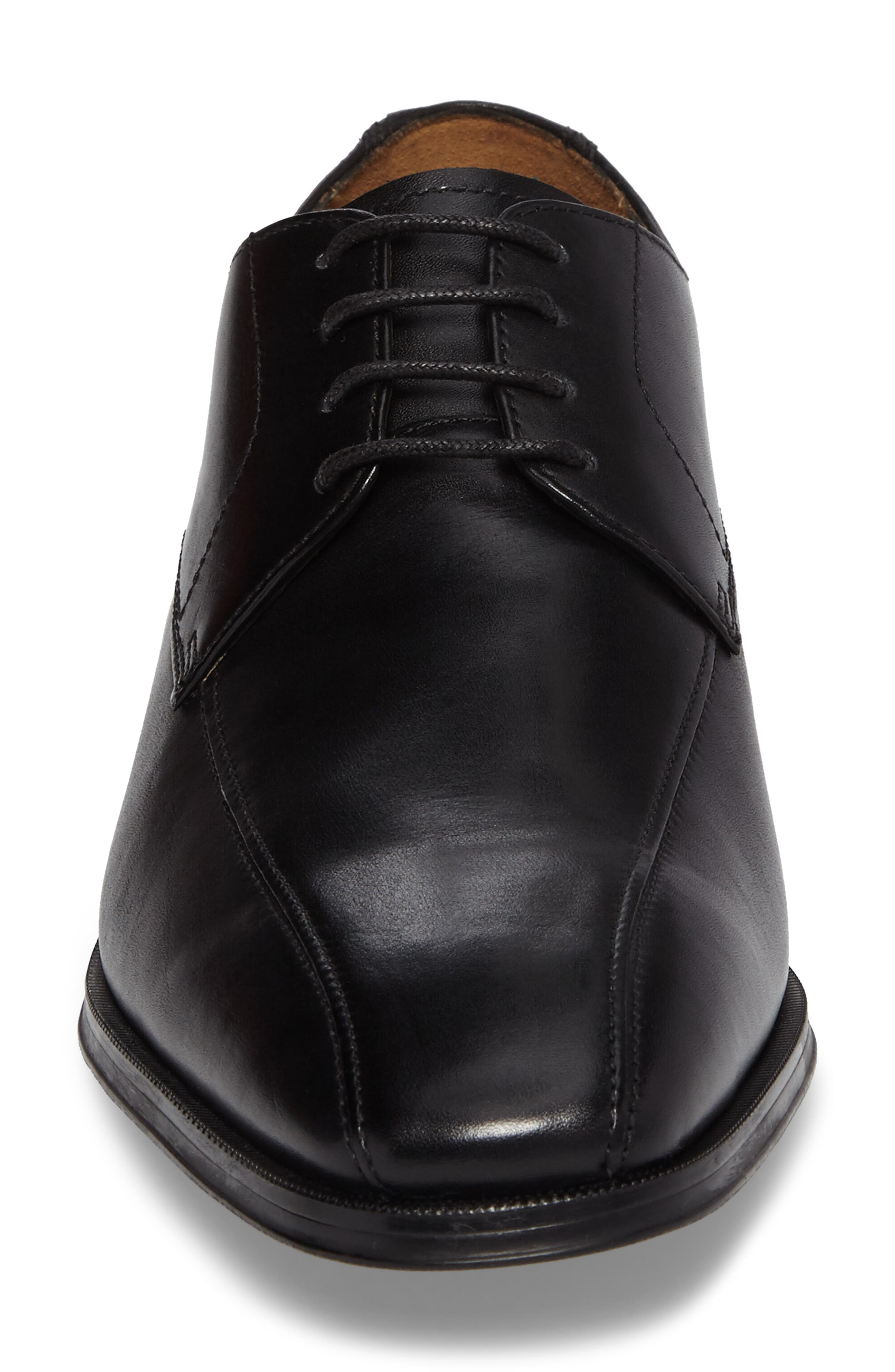 Clarks Gilman Bicycle Toe Derby,                             Alternate thumbnail 4, color,                             Black Leather