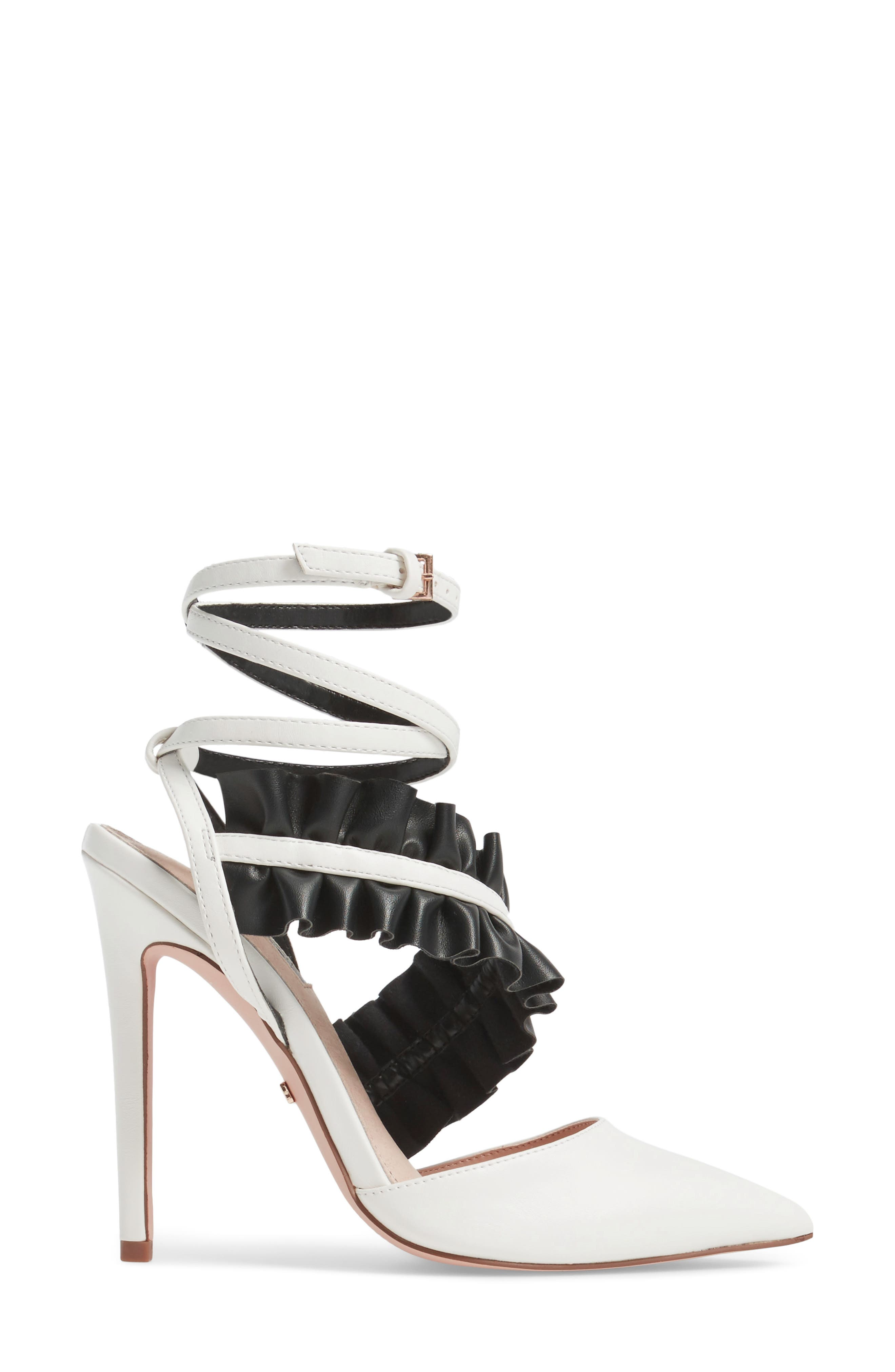 Grill Frill Ankle Strap Pump,                             Alternate thumbnail 4, color,                             White Multi