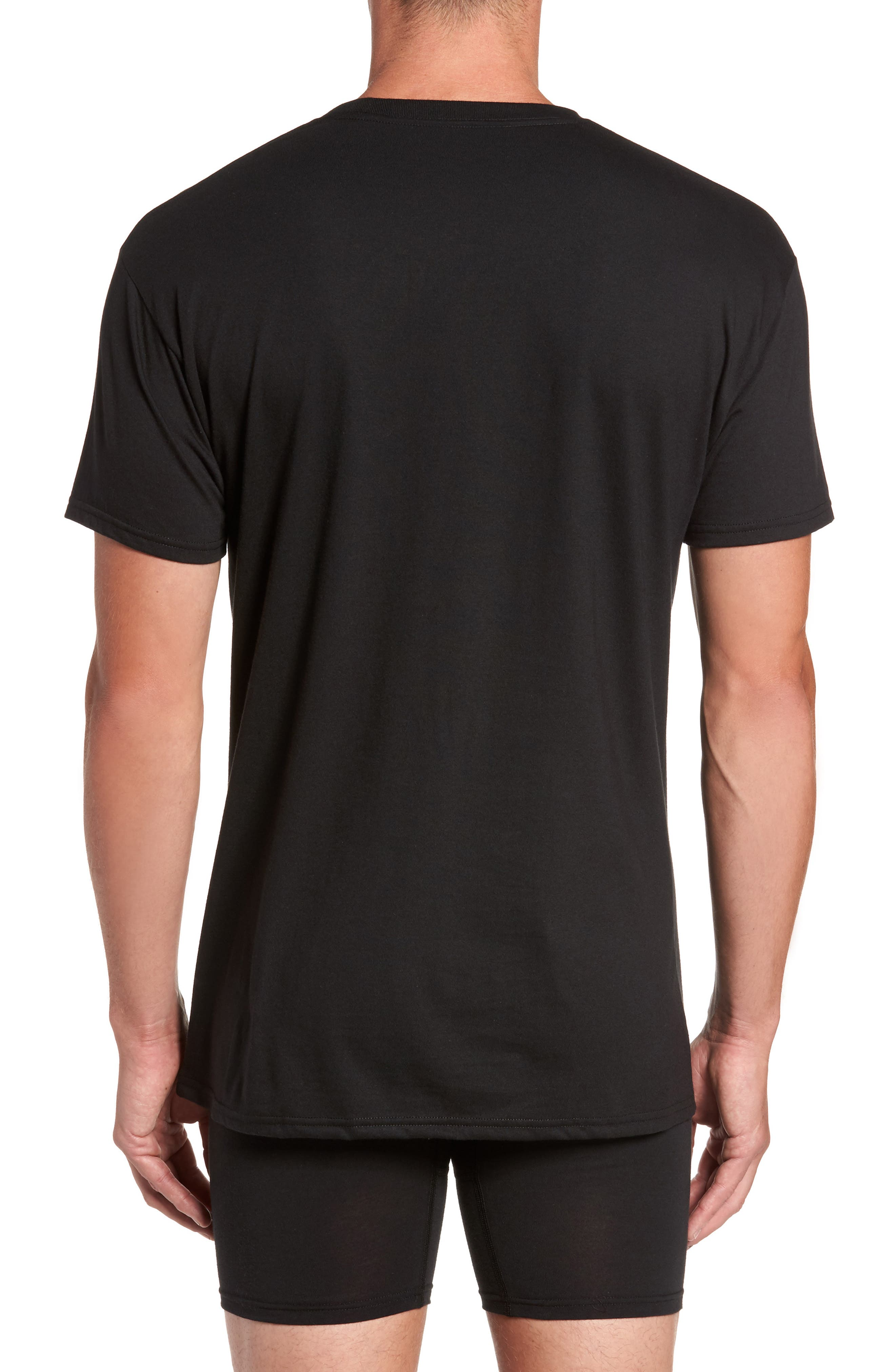 Alternate Image 3  - Hanes Luxury Essentials 3-Pack V-Neck T-Shirt