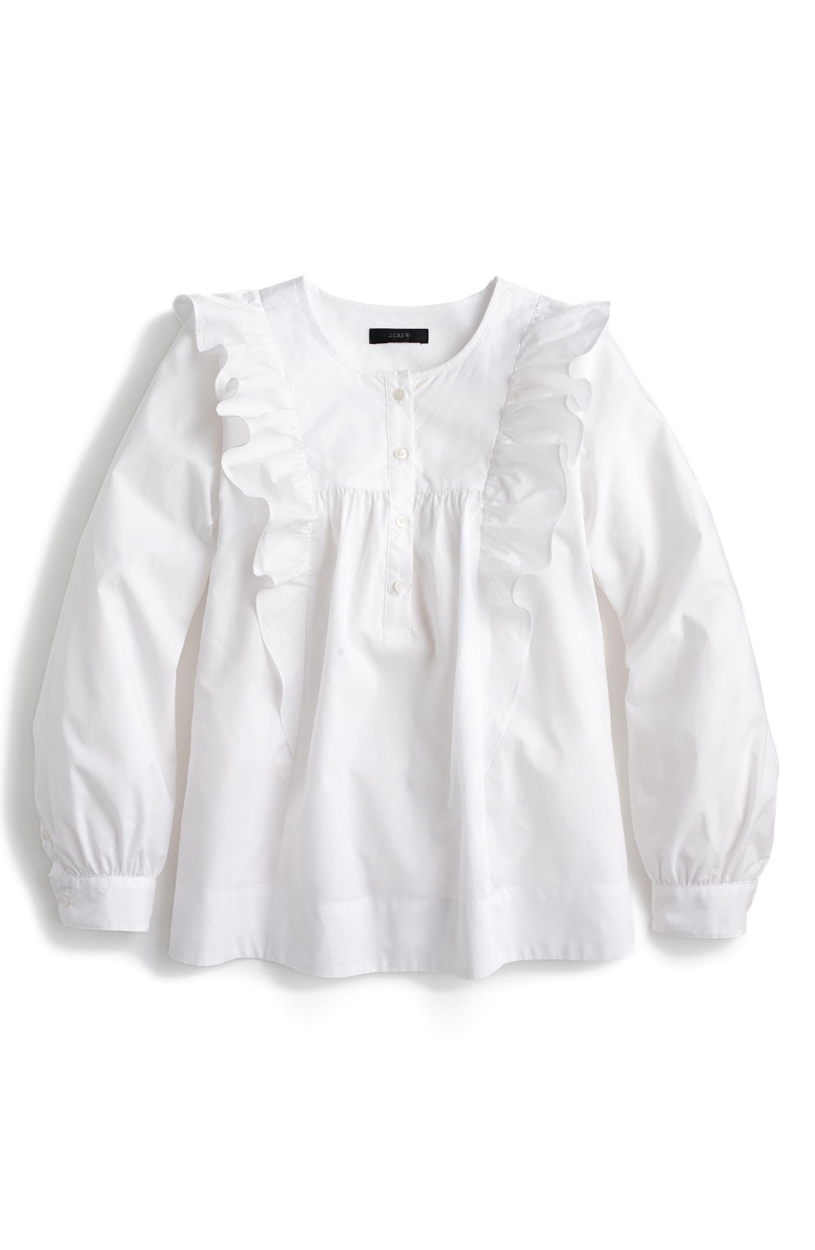 Alternate Image 4  - J.Crew Ruffle Front Shirt (Regular & Petite)