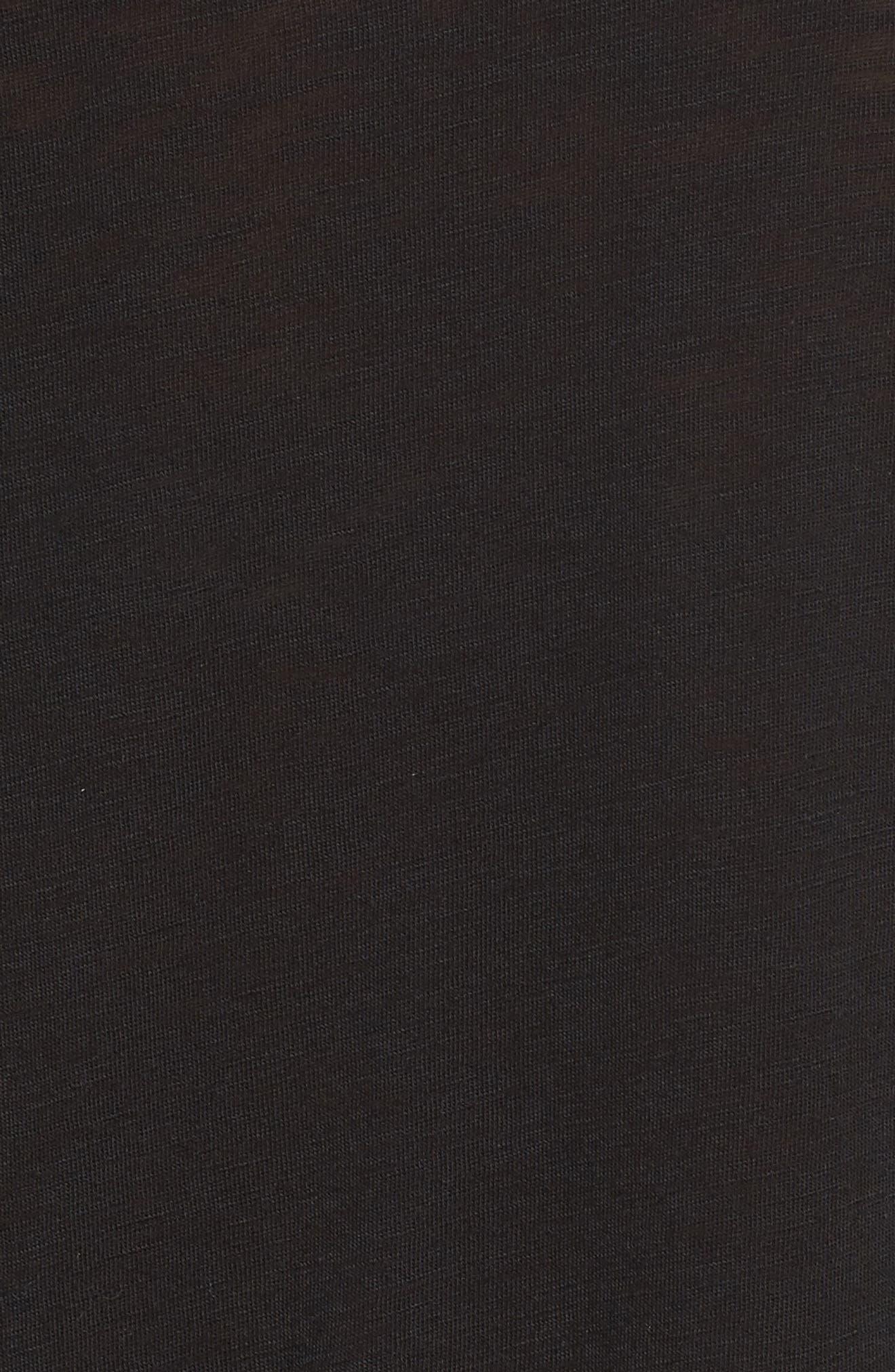 Alternate Image 5  - Velvet by Graham & Spencer Ruffle Slub Tee
