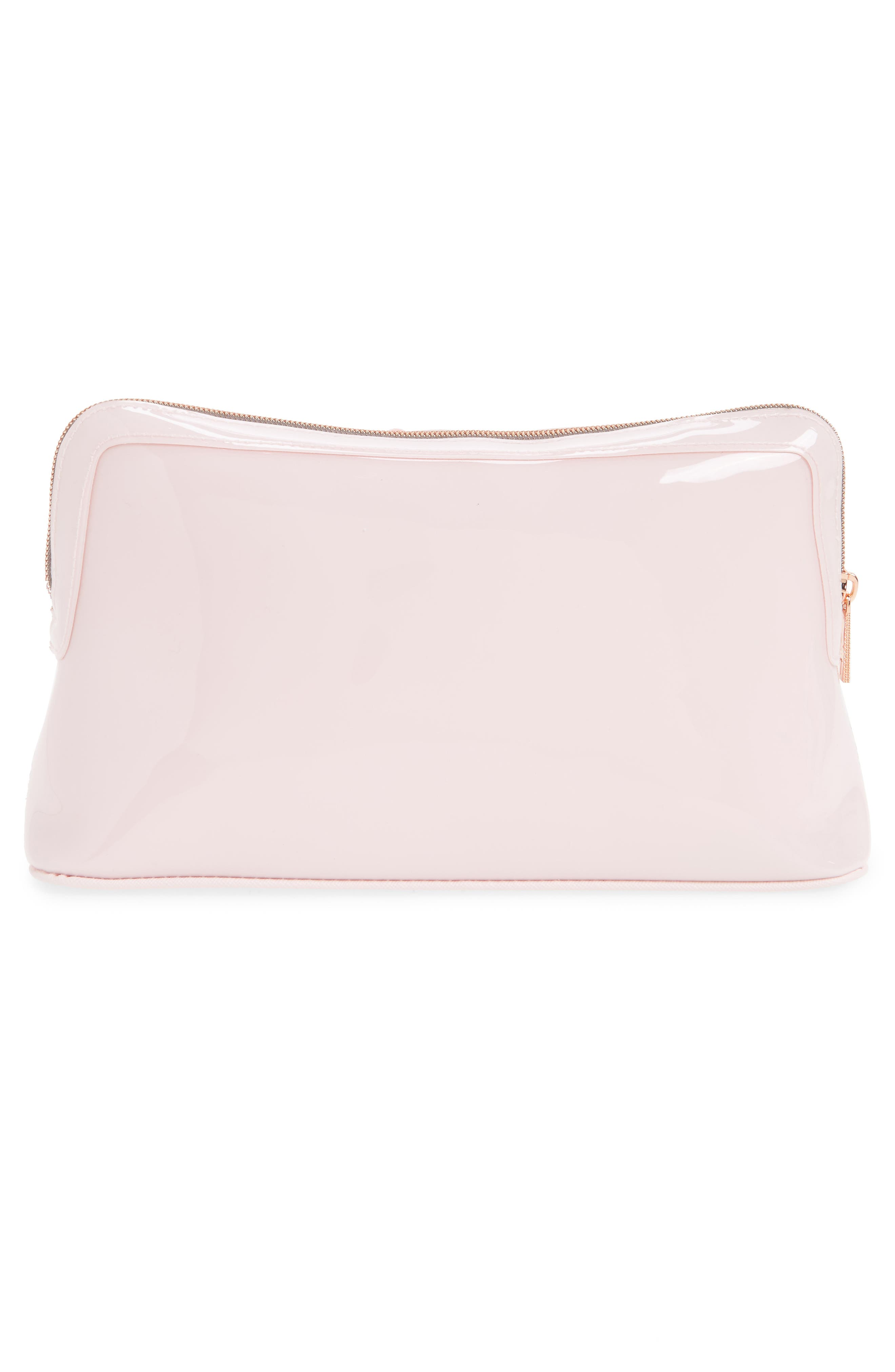 Jana Bow Cosmetic Case,                             Alternate thumbnail 2, color,                             Dusky Pink