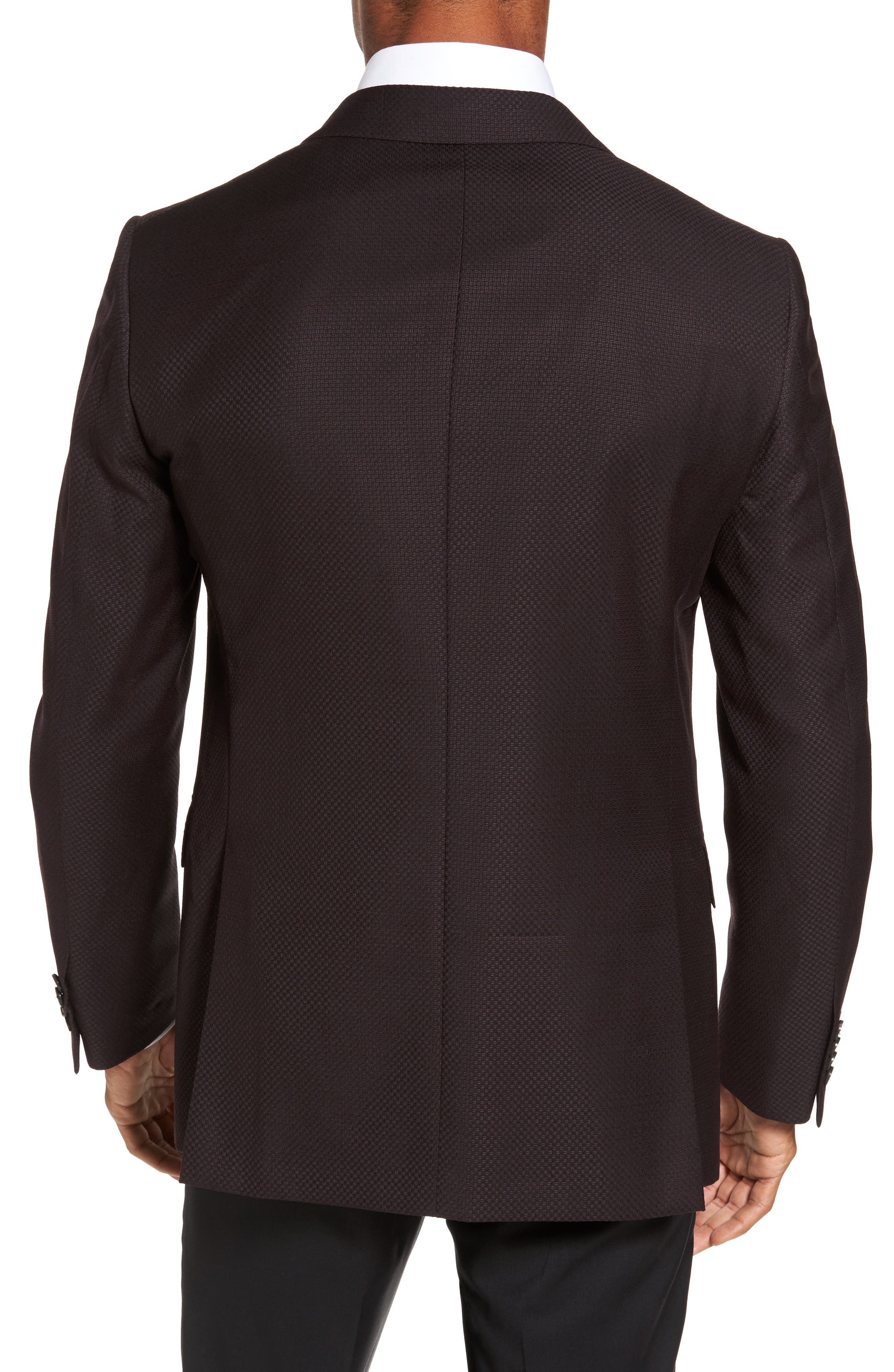 Classic Fit Wool Blazer,                             Alternate thumbnail 2, color,                             Bordeaux