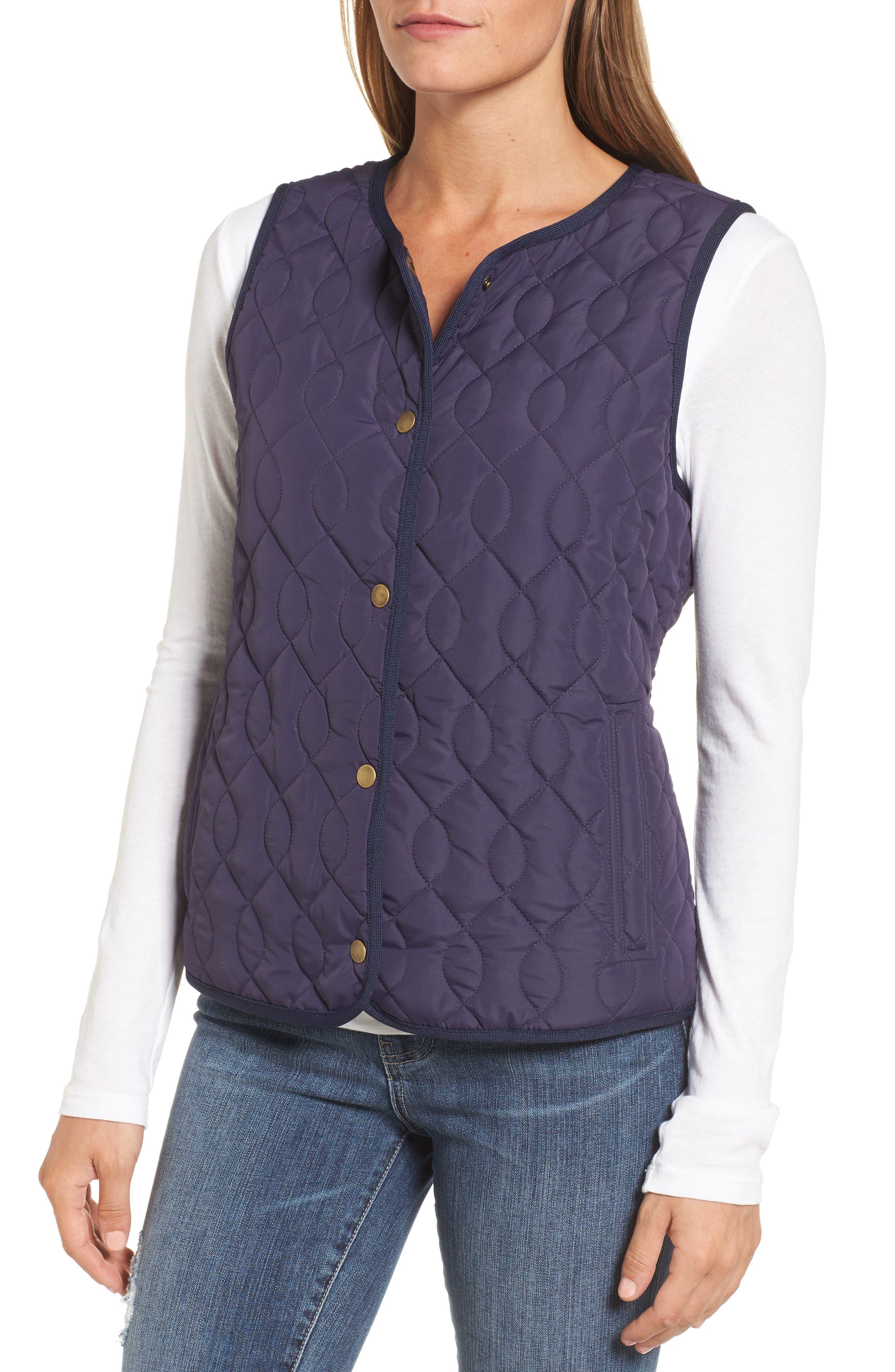 Alternate Image 3  - Caslon® Collarless Quilted Vest (Regular & Petite)
