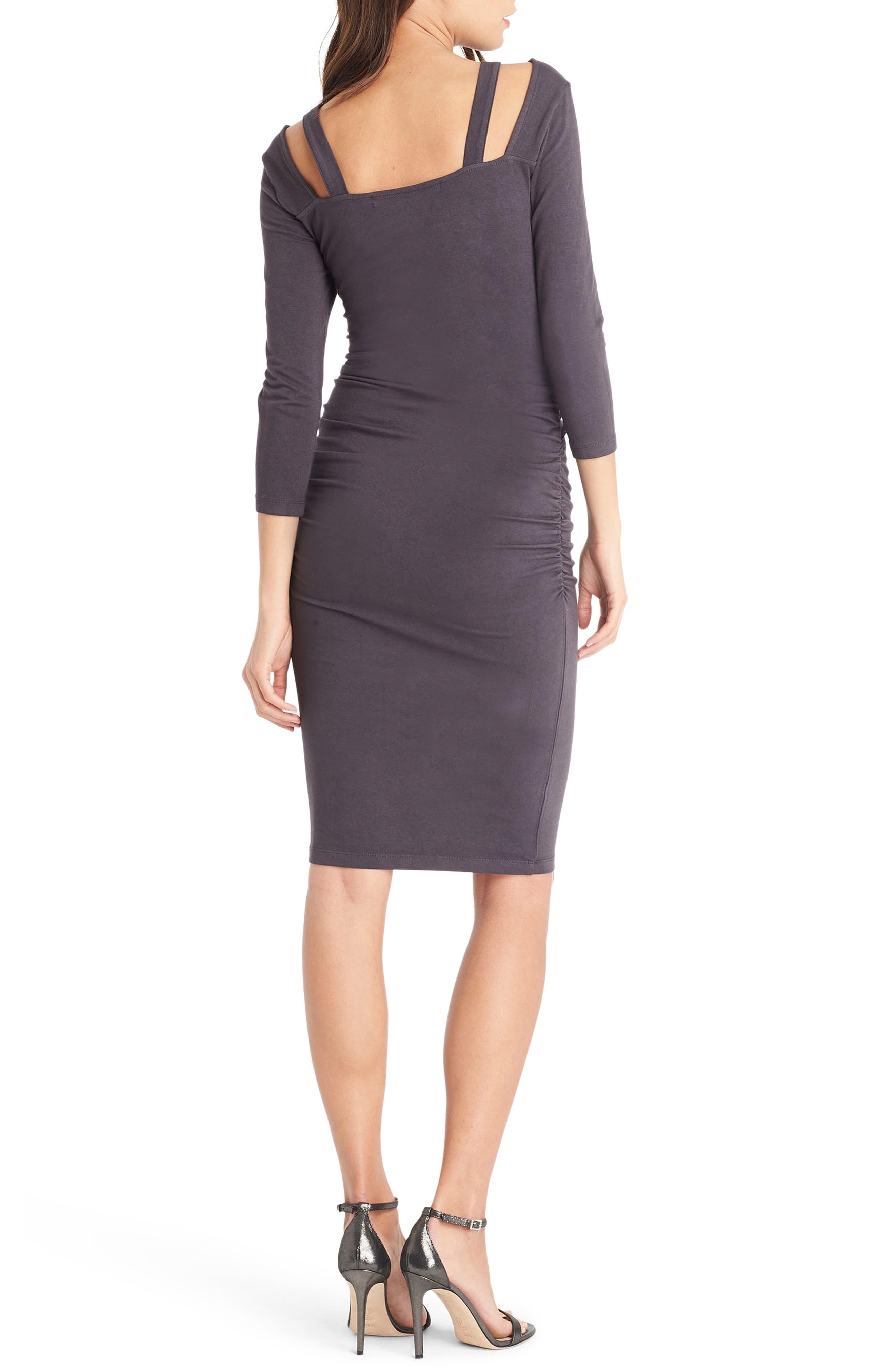 Strap Back Body-Con Dress,                             Alternate thumbnail 2, color,                             Oxide