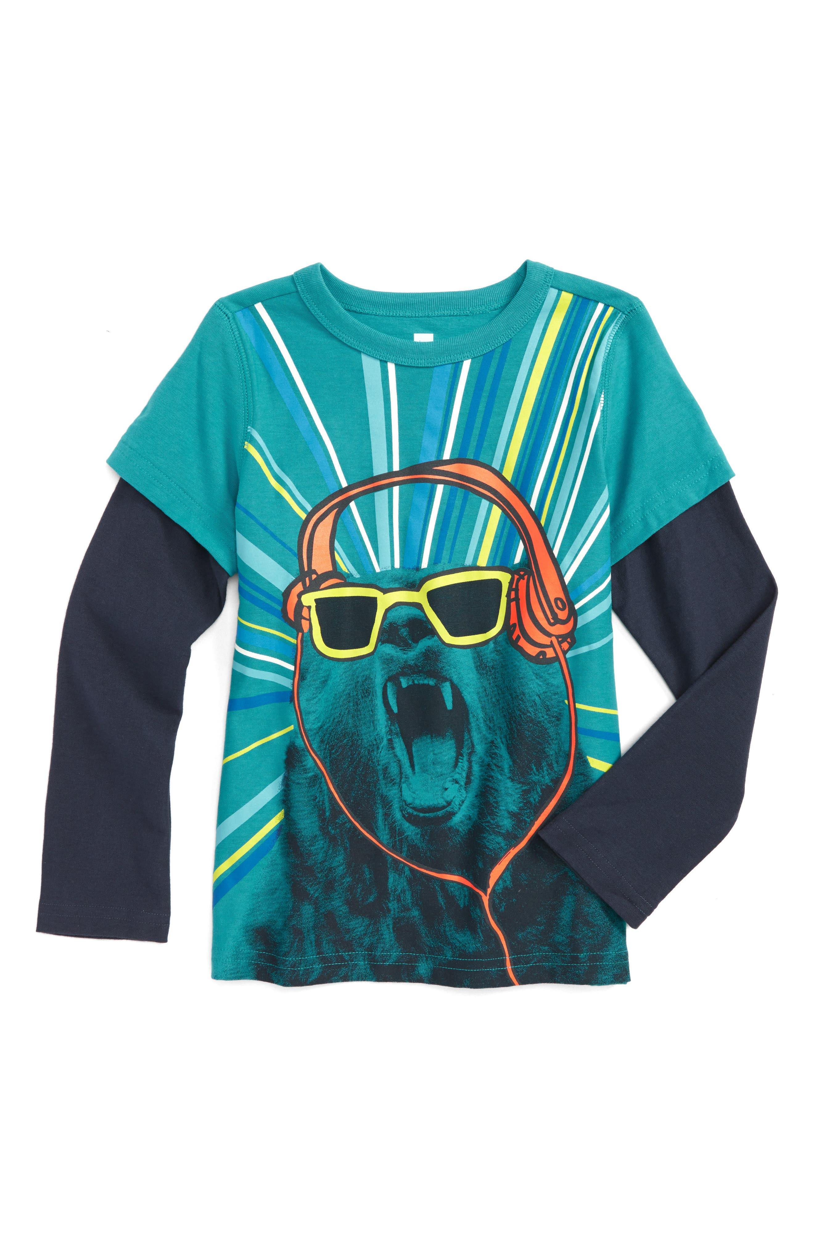 Bear With Me Graphic T-Shirt,                             Main thumbnail 1, color,                             Pool