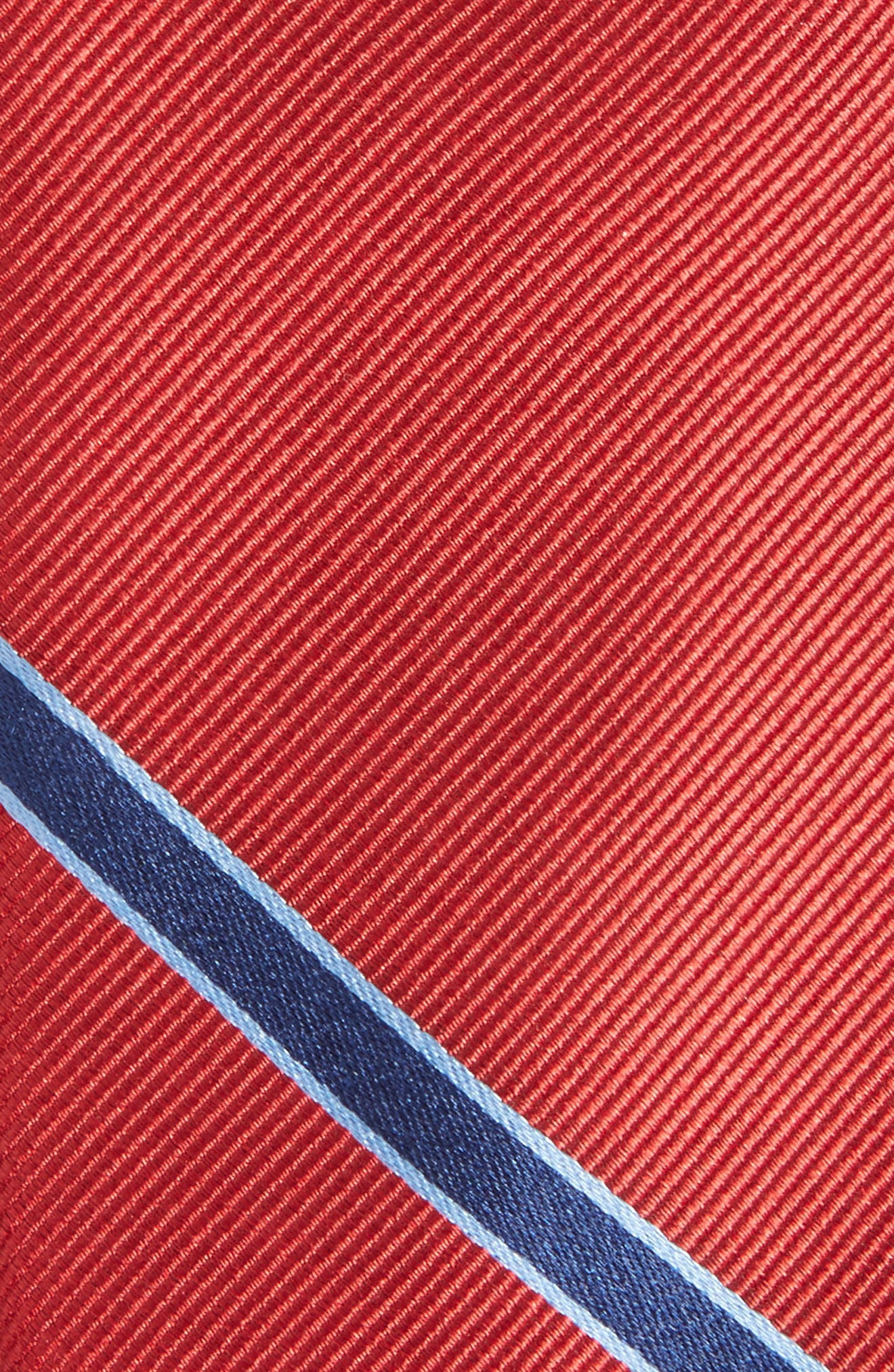 Triple Play Stripe Silk Tie,                             Alternate thumbnail 2, color,                             Red