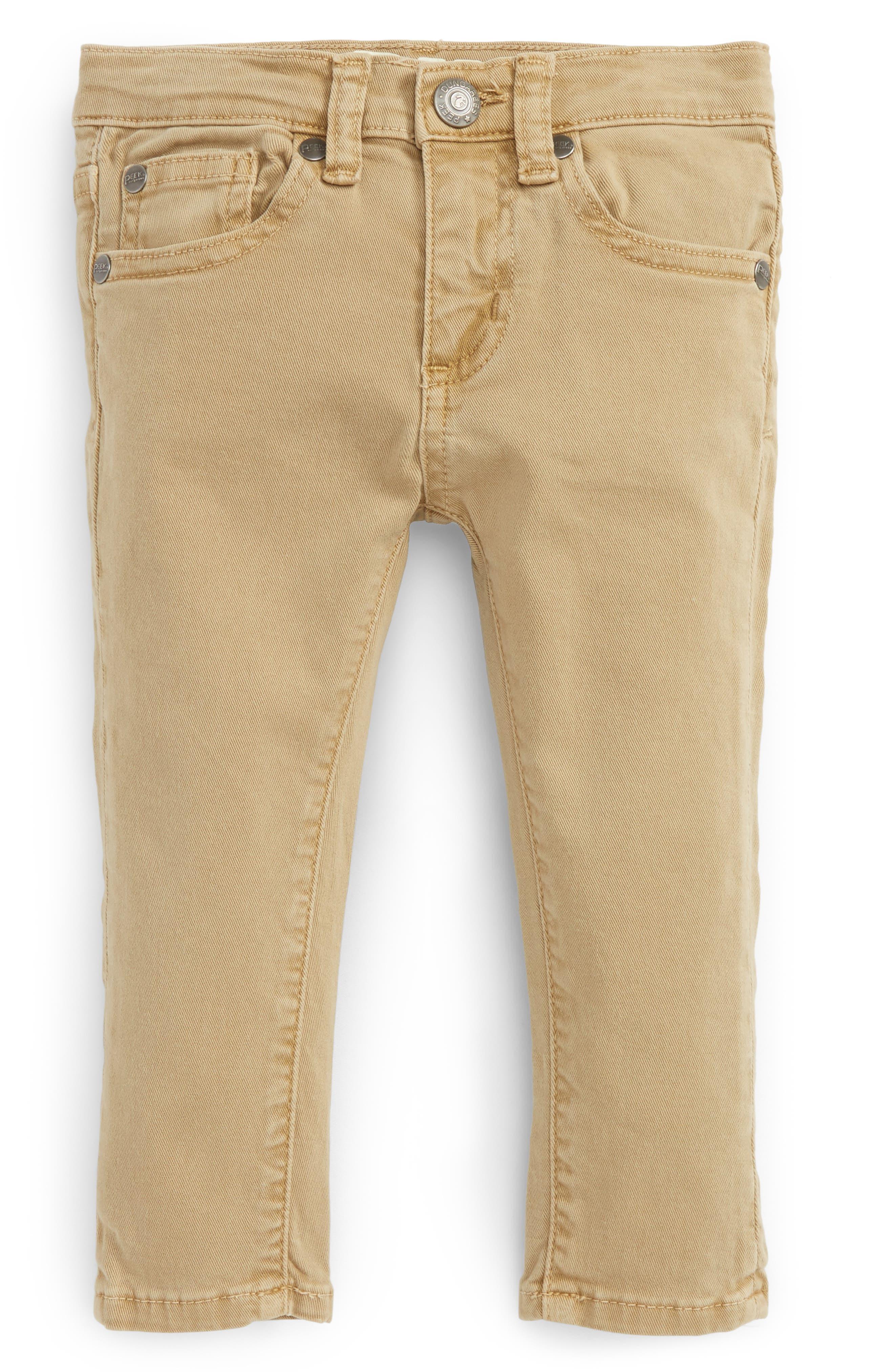 Peek Slouch Cotton Twill Pants (Baby Boys)