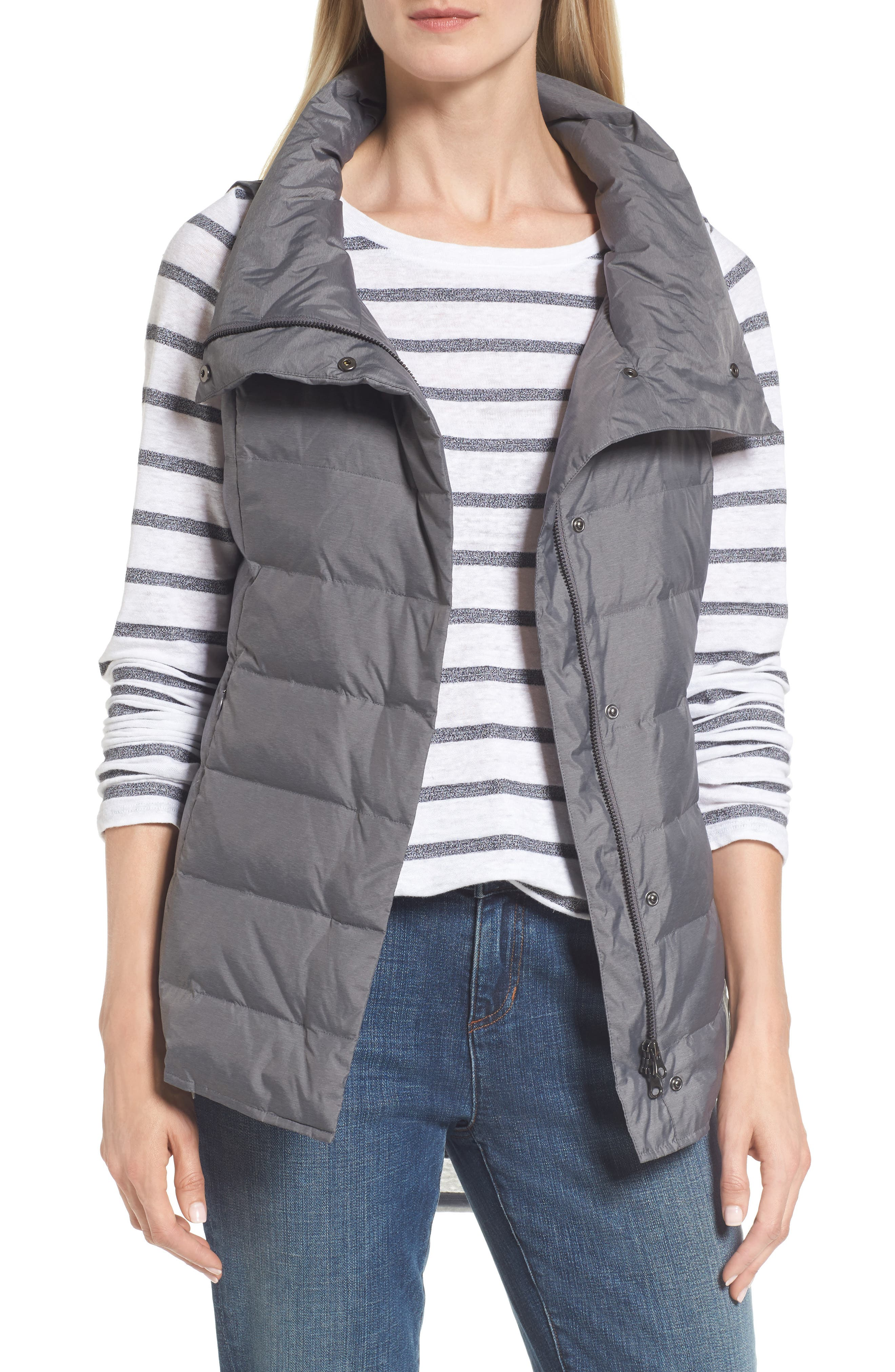 Alternate Image 1 Selected - Eileen Fisher Stand Collar Vest