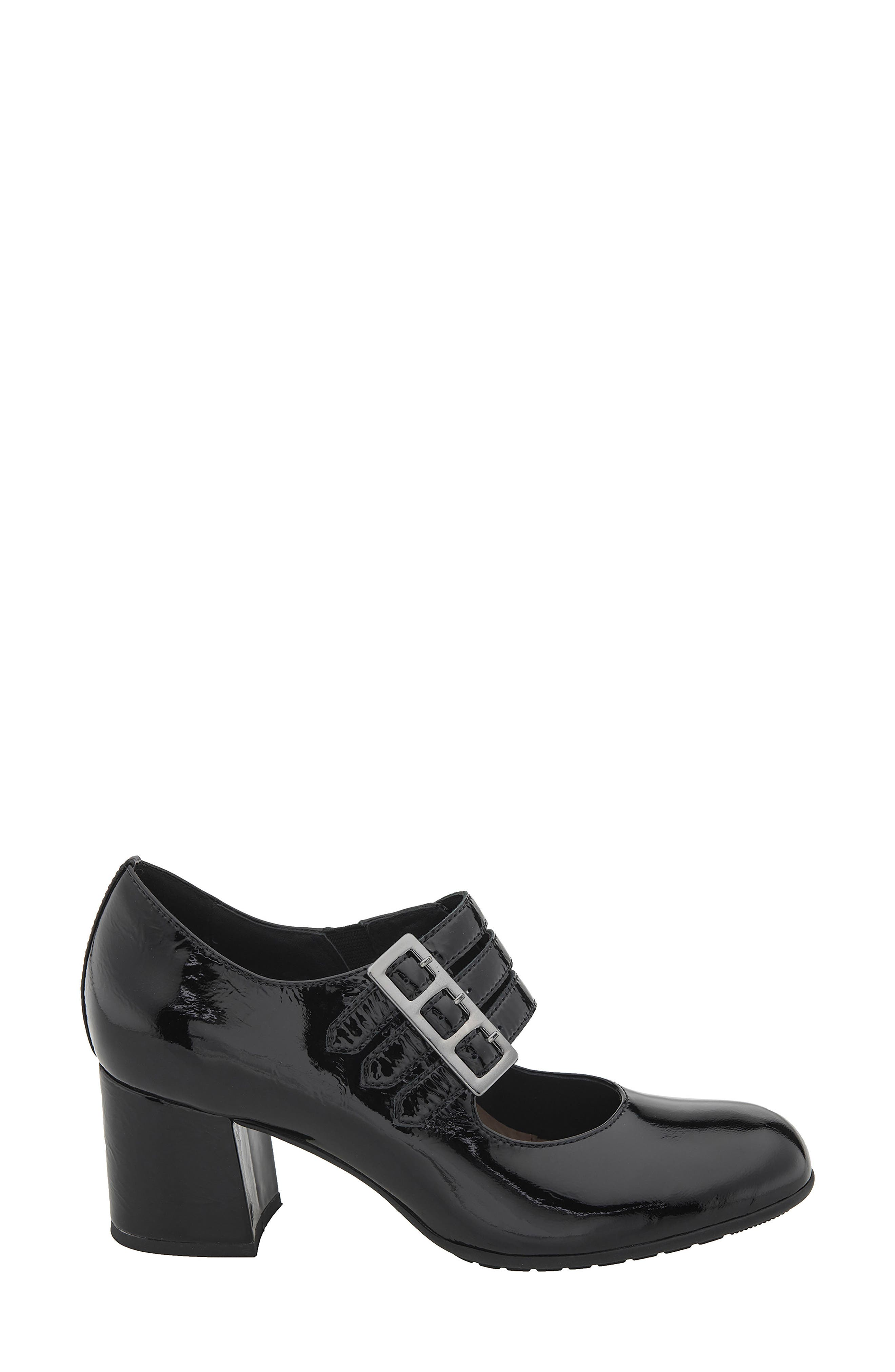 Fortuna Mary Jane Pump,                             Alternate thumbnail 3, color,                             Black Patent Leather