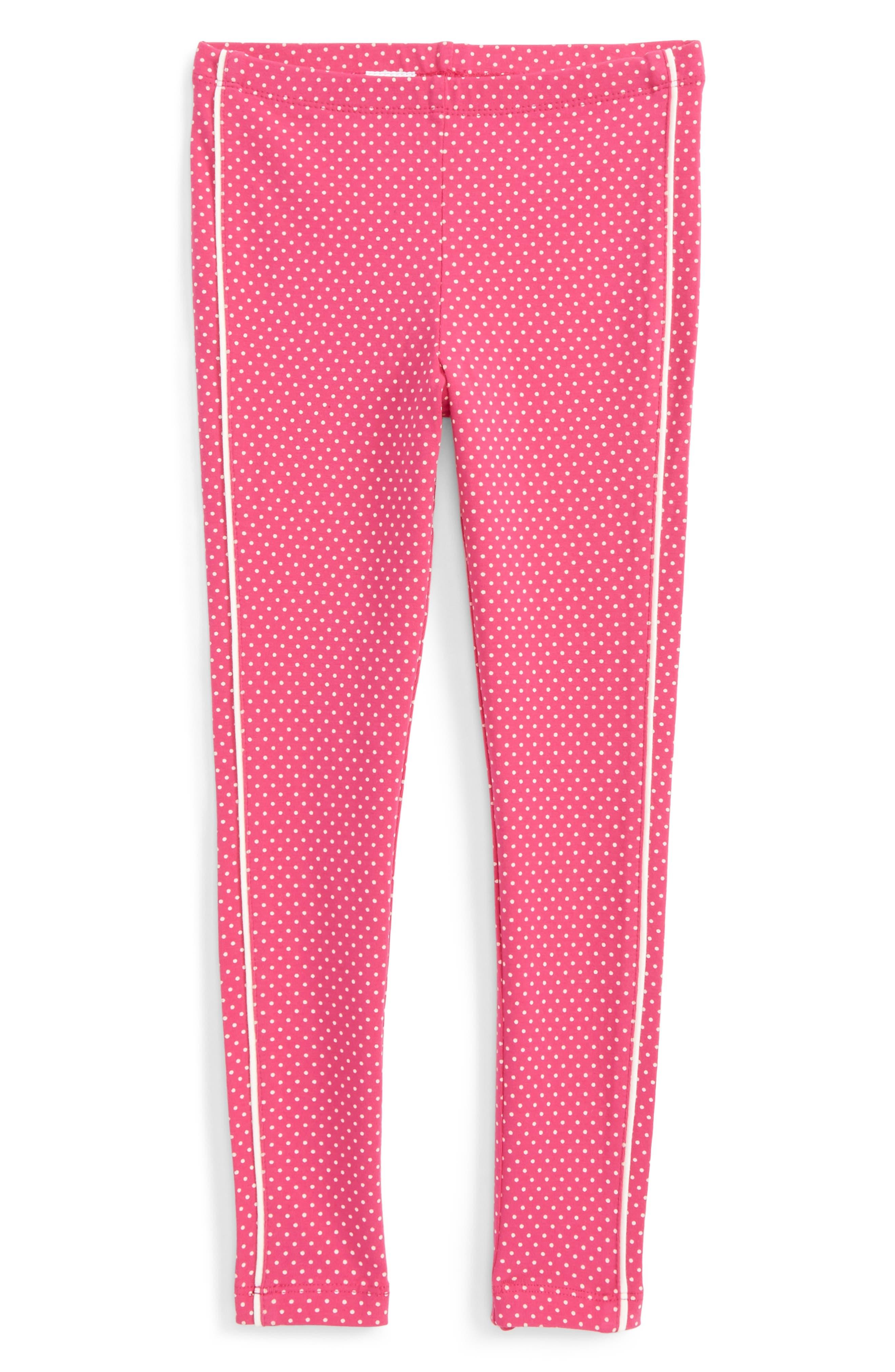 Stripe-n-Dot Leggings,                         Main,                         color, Pink