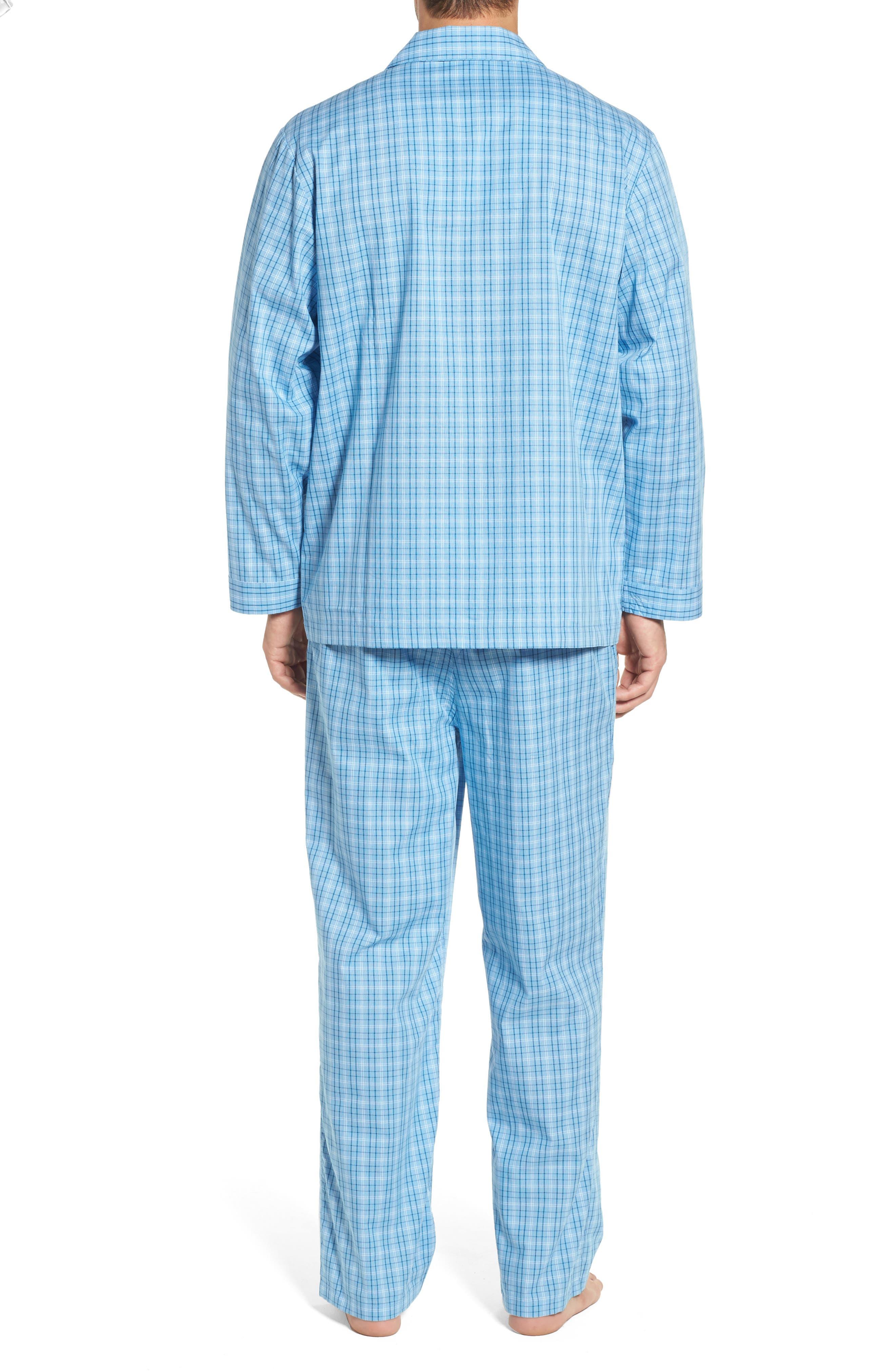 Alternate Image 2  - Nordstrom Men's Shop Poplin Pajama Set