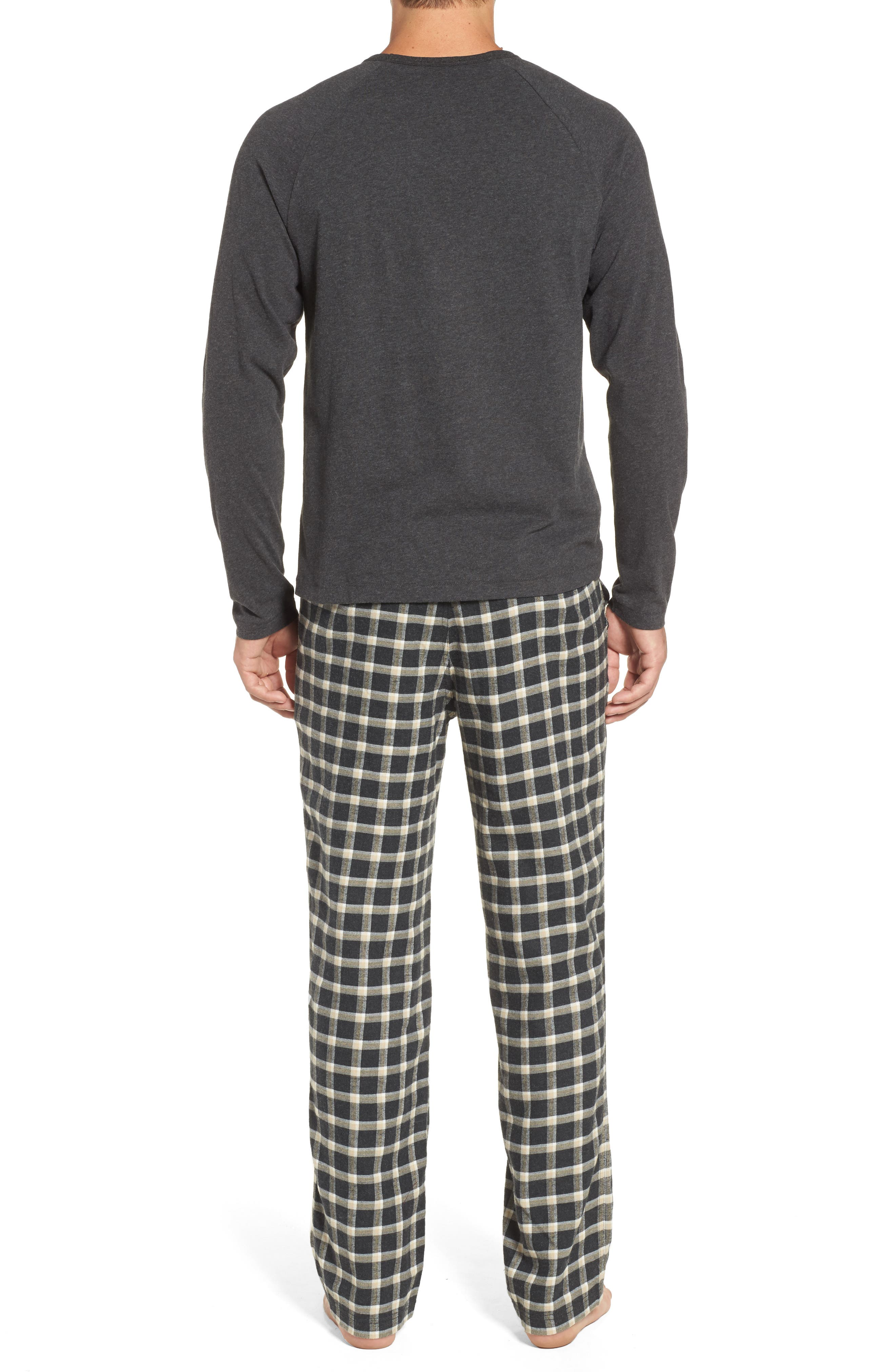 Steiner Pajama Set,                             Alternate thumbnail 2, color,                             Black/ Black Bear Heather