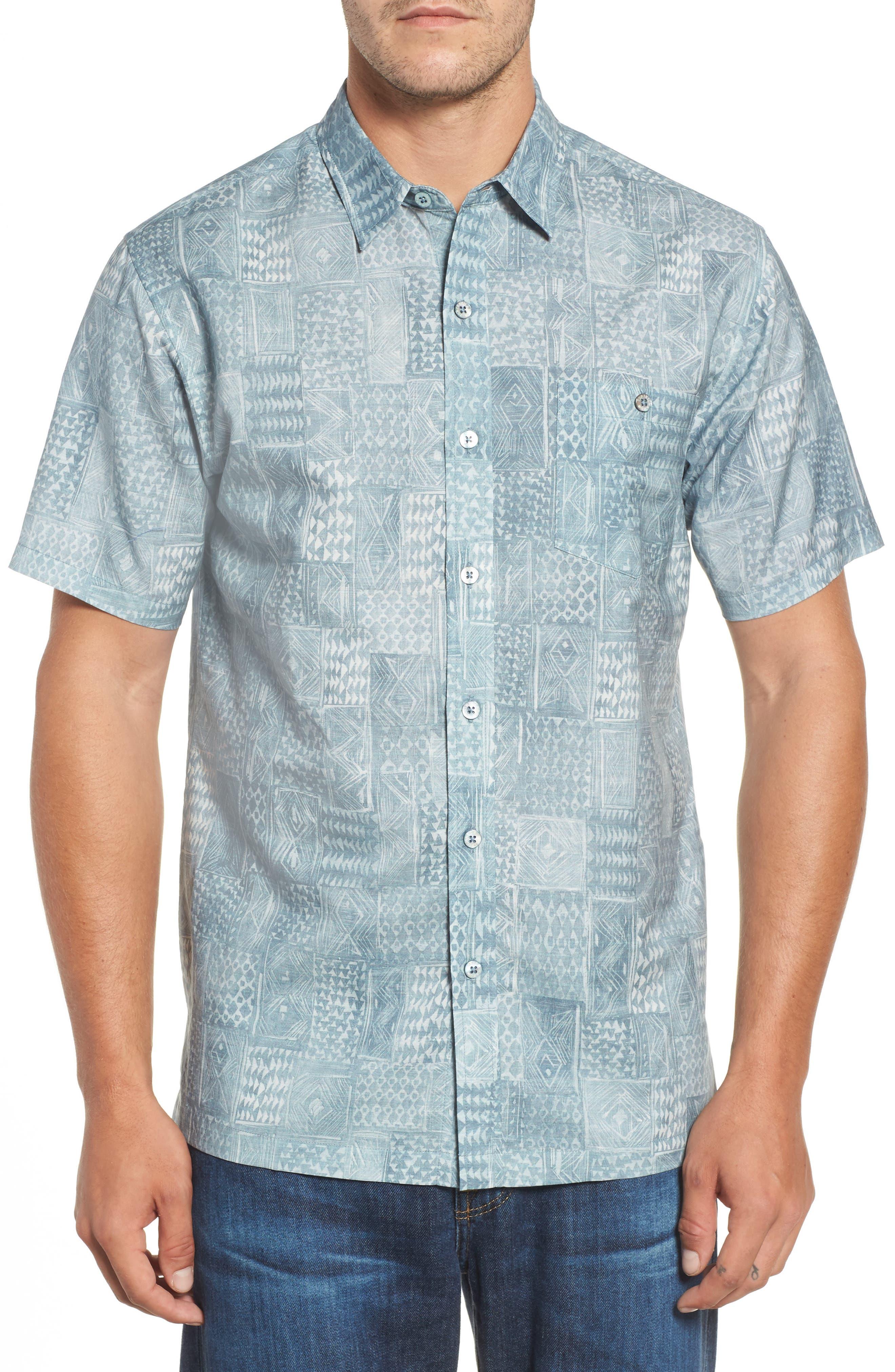 Tori Richard Scrimshaw Classic Fit Linen & Cotton Sport Shirt