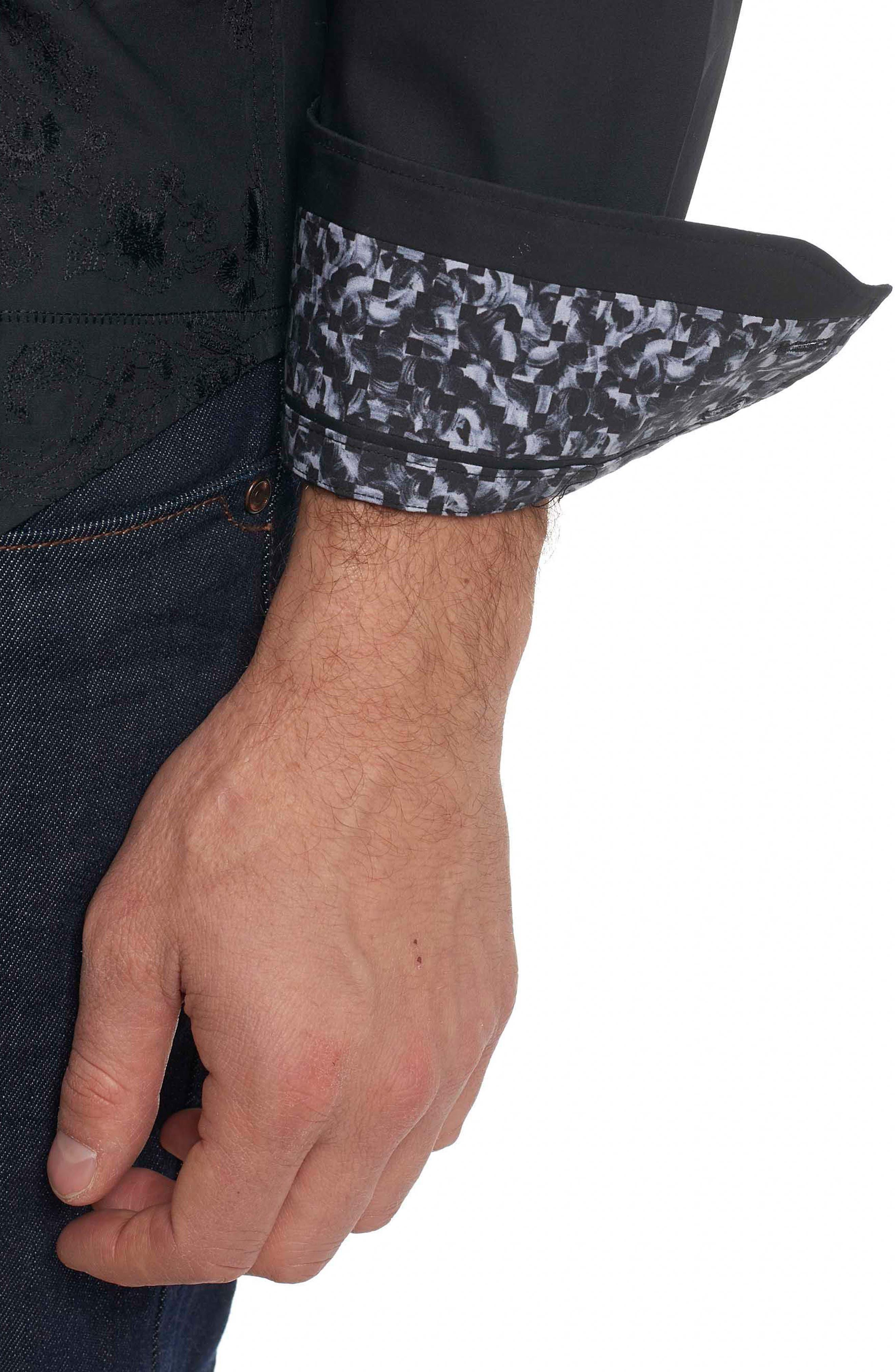 Alternate Image 4  - Robert Graham Onyx Classic Fit Embroidered Sport Shirt