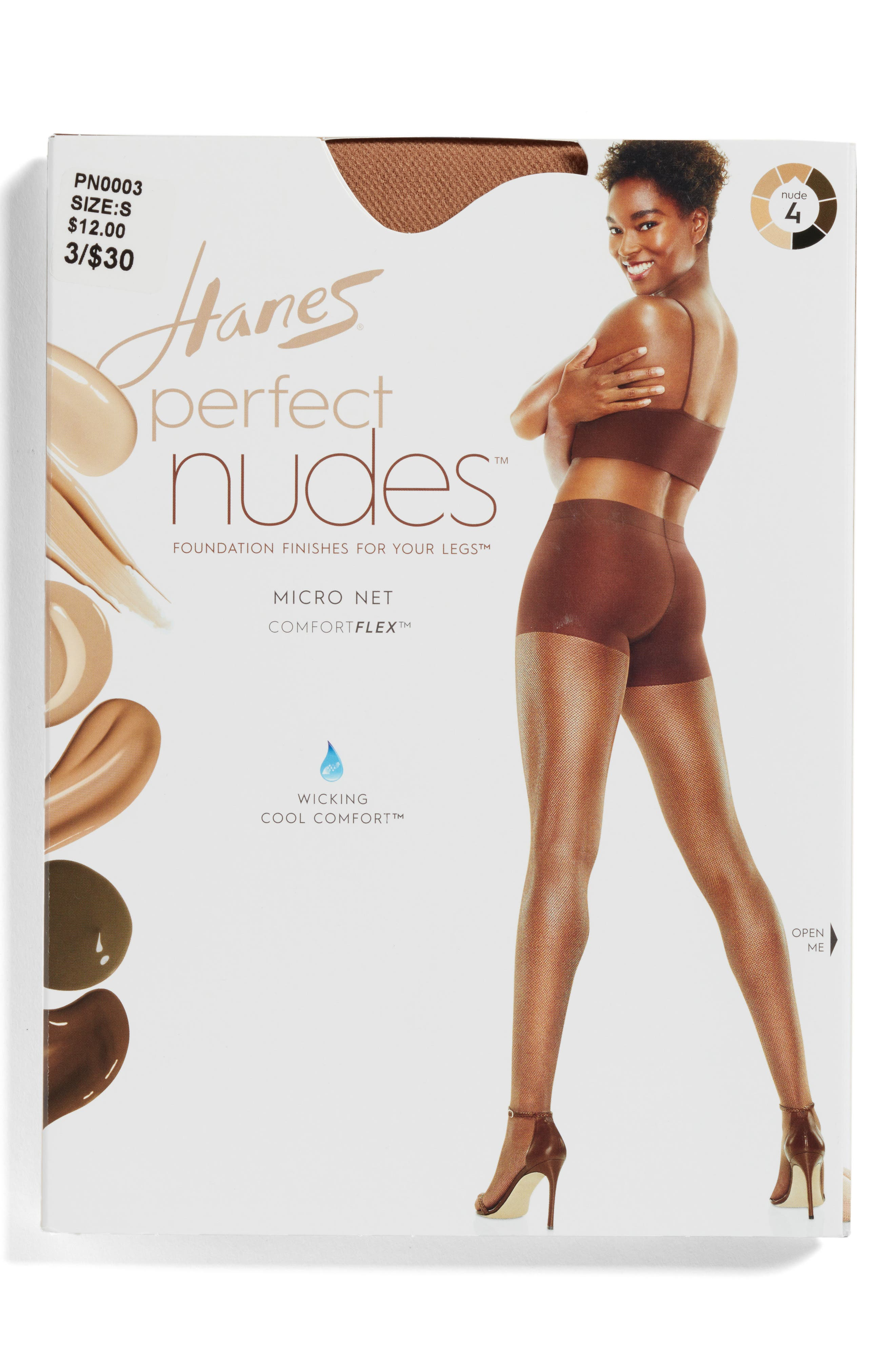 Alternate Image 2  - Hanes Perfect Nudes Micro Net Pantyhose (3 for $30)